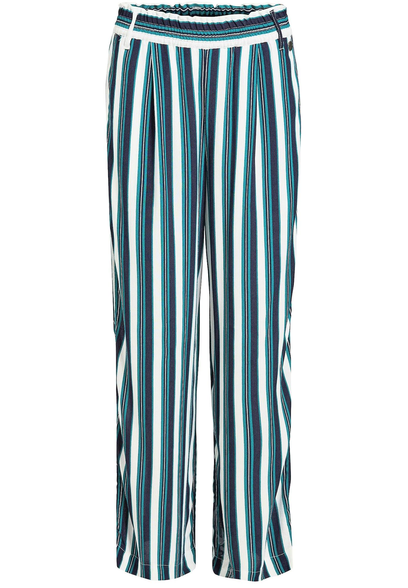 Kalhoty Carene námořnická modř petrolejová bílá Khujo
