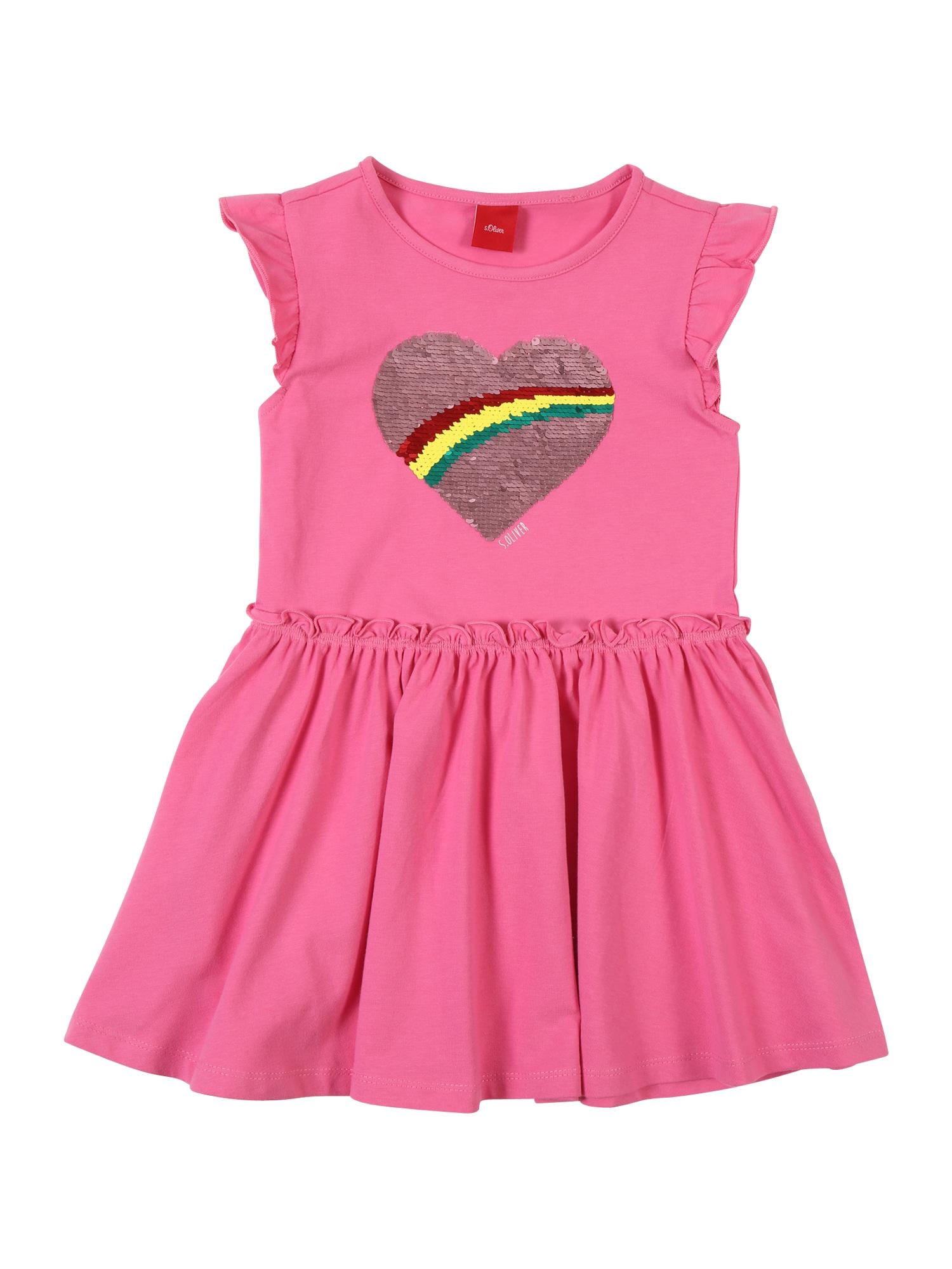 Šaty tmavě růžová S.Oliver Junior