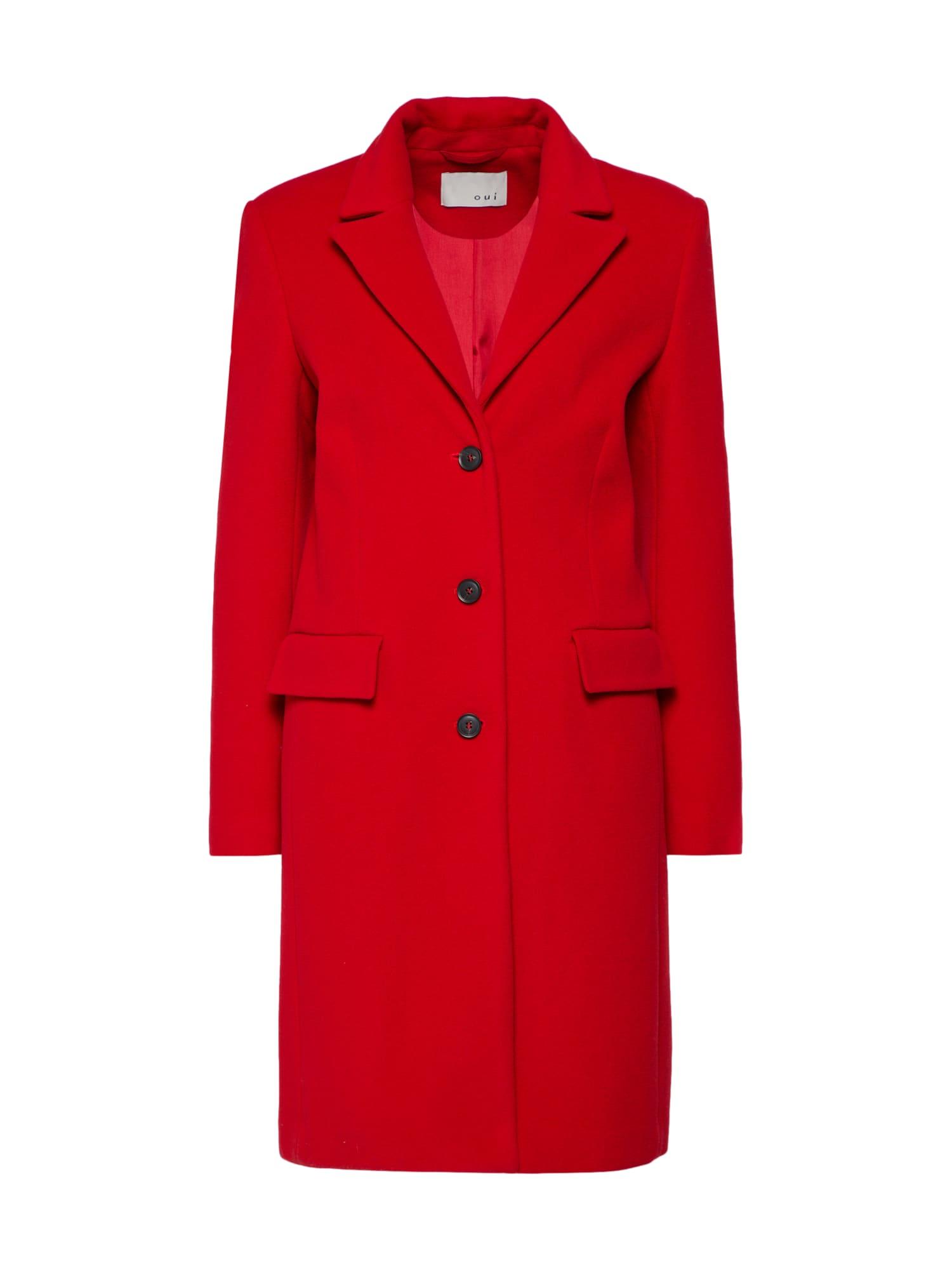 Zimní kabát červená třešeň OUI