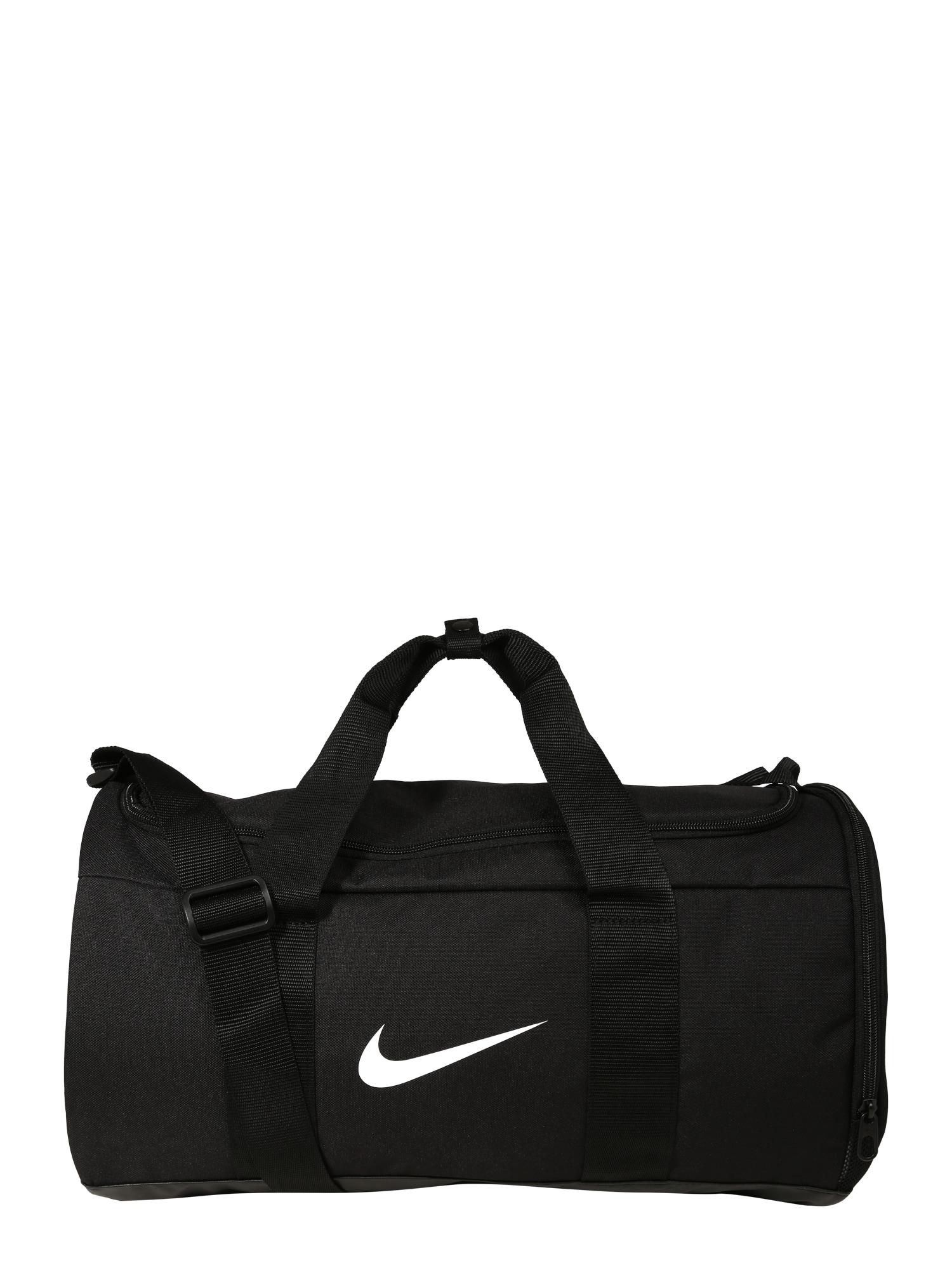 NIKE Športová taška 'Nike Team'  čierna / biela