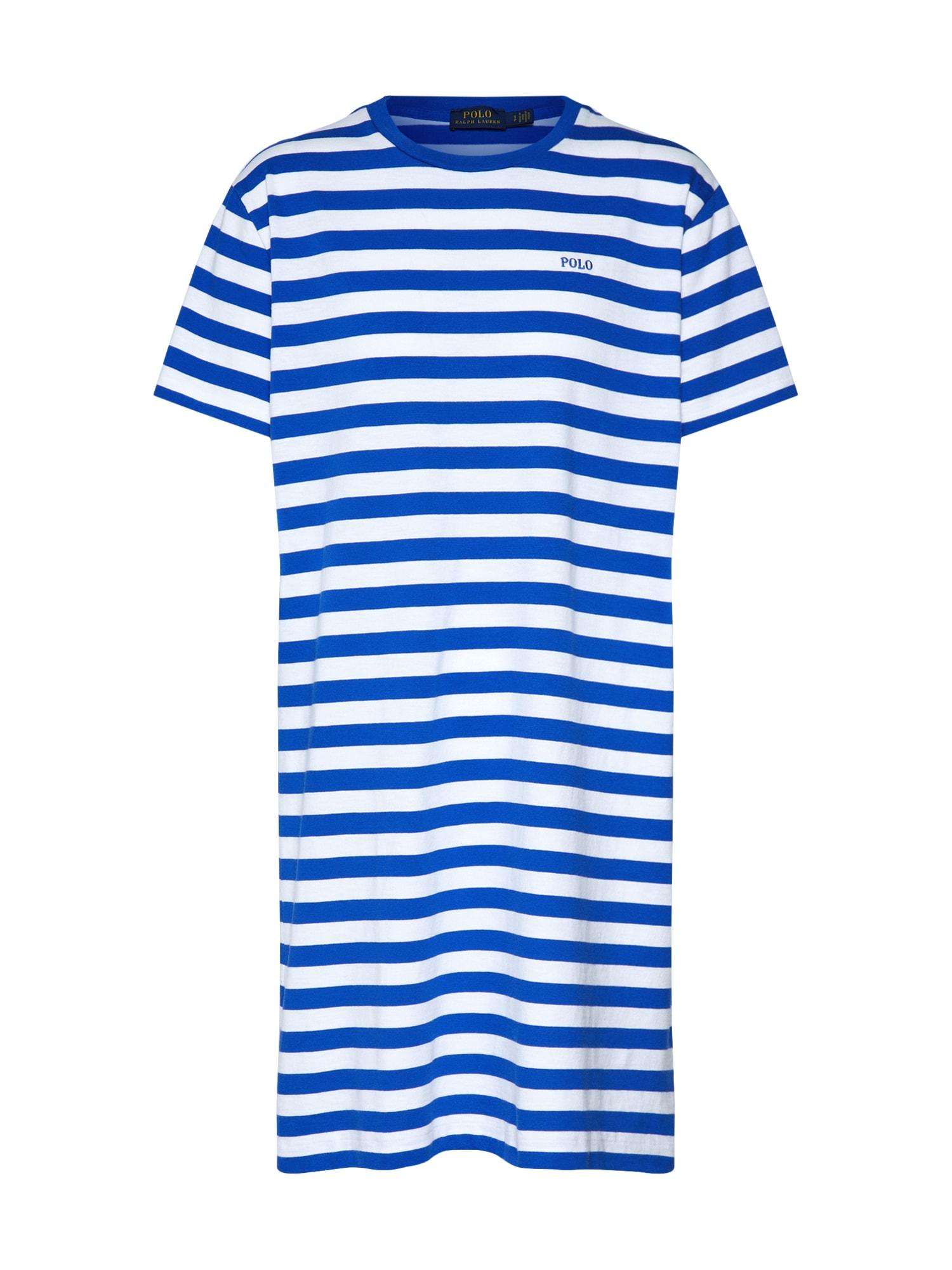 Šaty SS TSHRT DRS-SHORT SLEEVE-CASUAL DRESS modrá bílá POLO RALPH LAUREN