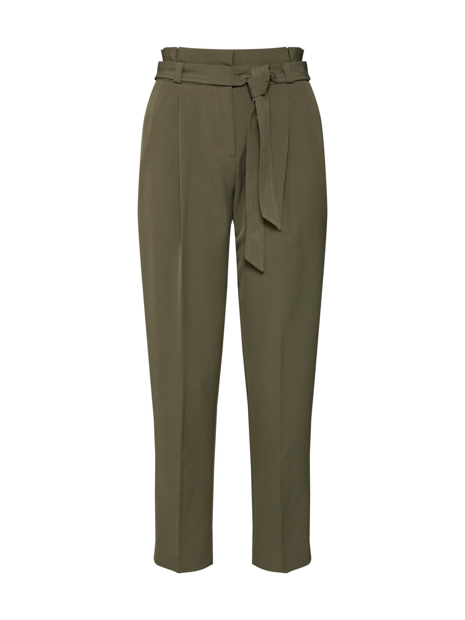 Kalhoty s puky zelená NEW LOOK