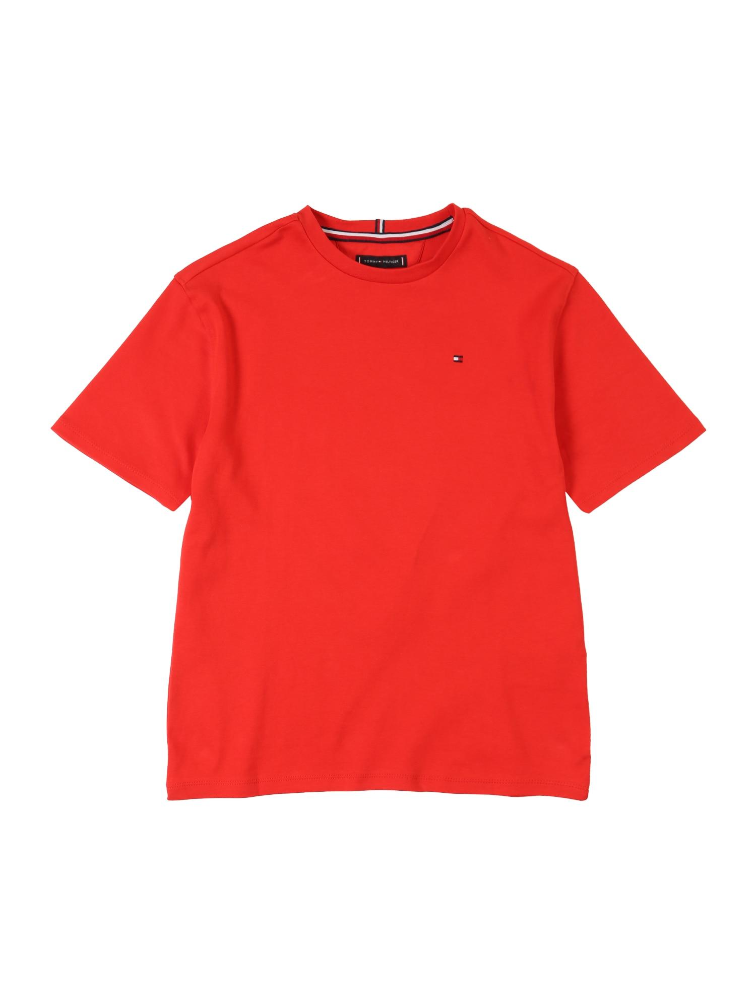 Tričko BOXY BACK PRINT TEE SS červená TOMMY HILFIGER