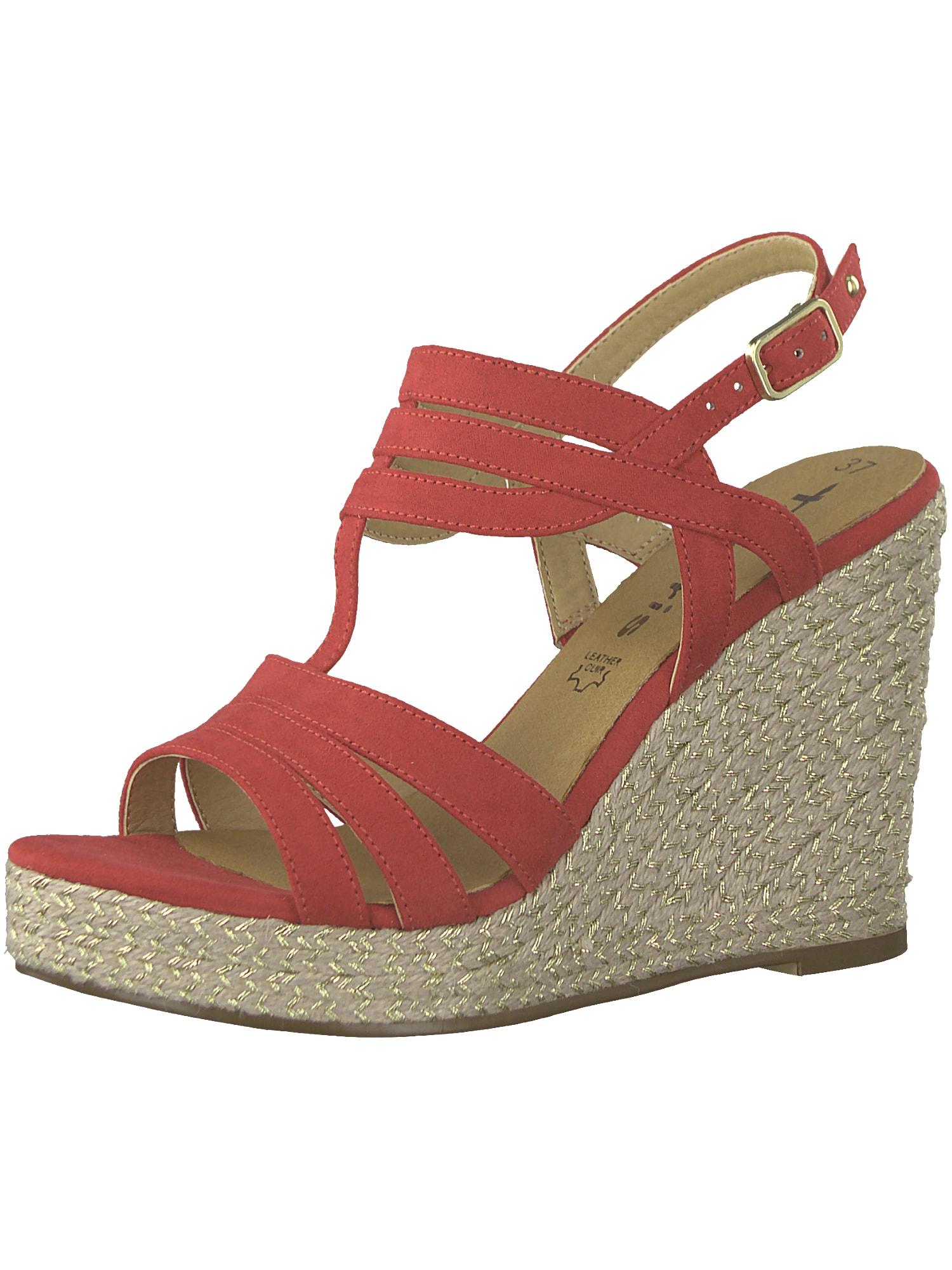 Sandály Wedgesandale červená TAMARIS