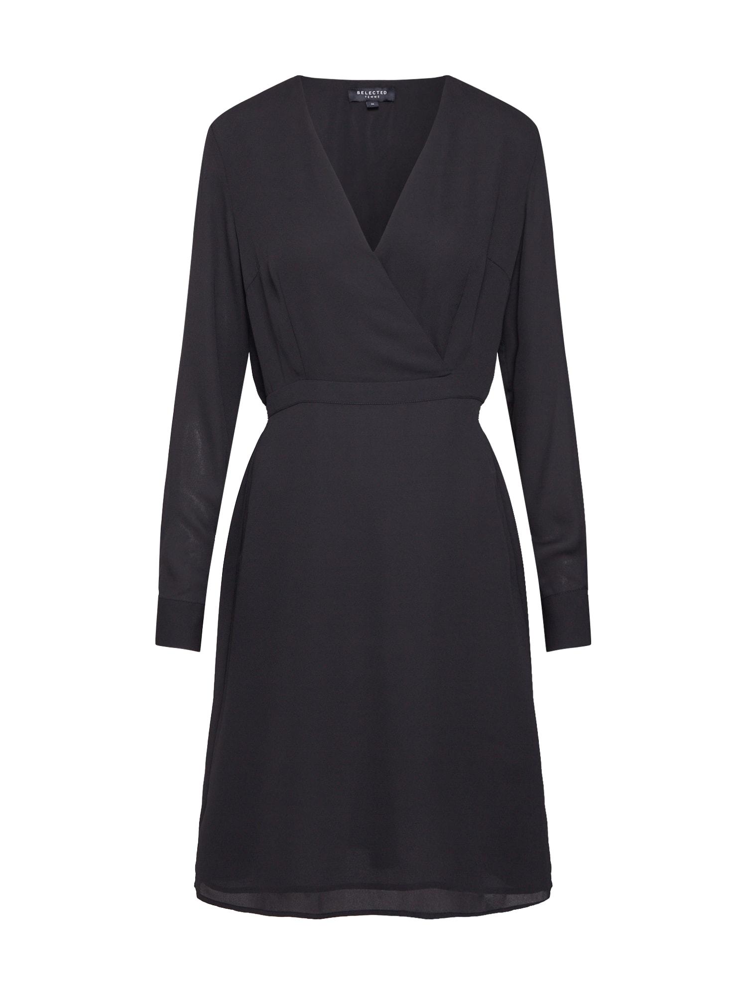 Pouzdrové šaty černá SELECTED FEMME