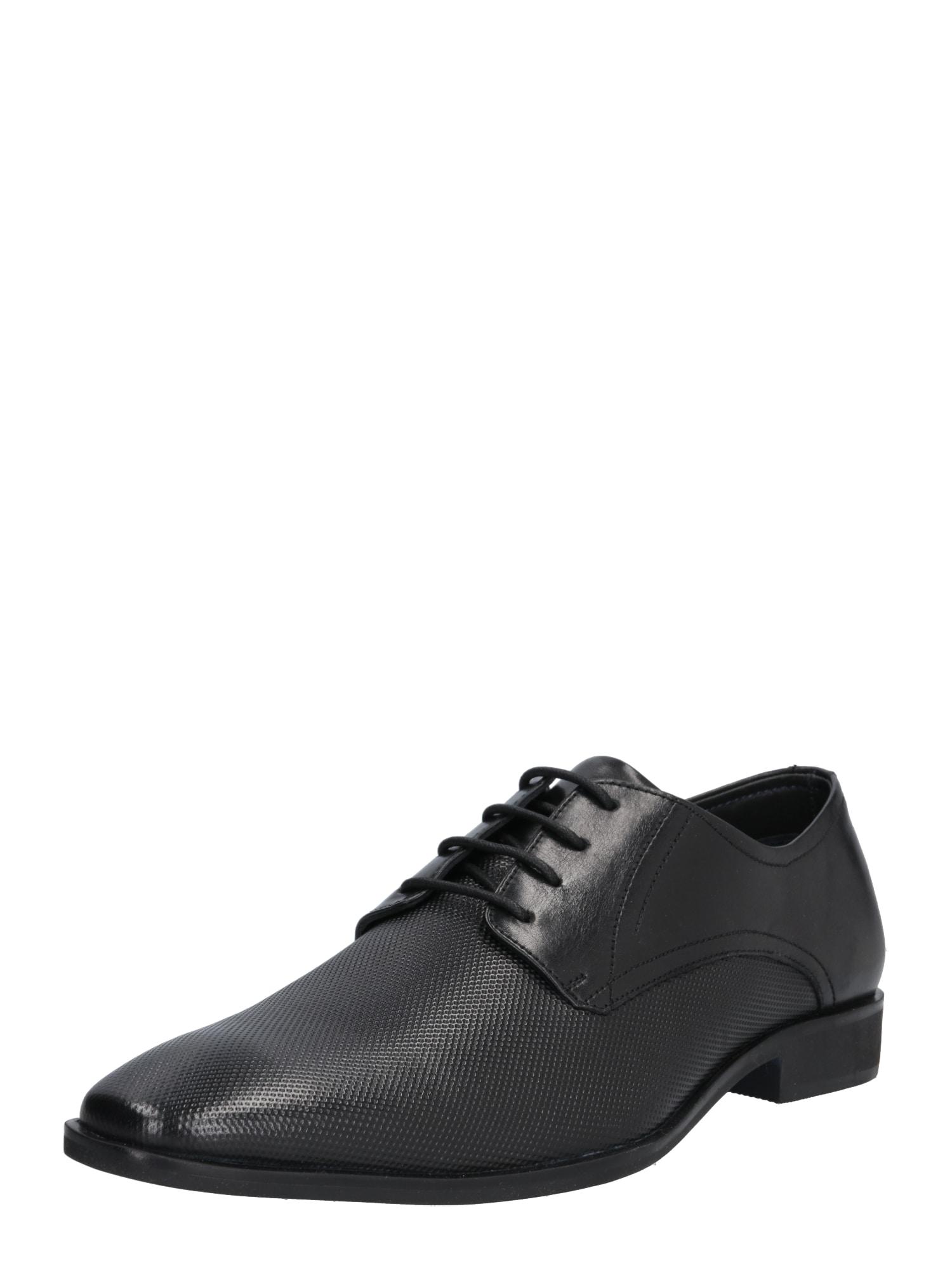 Šněrovací boty Bastian černá ABOUT YOU