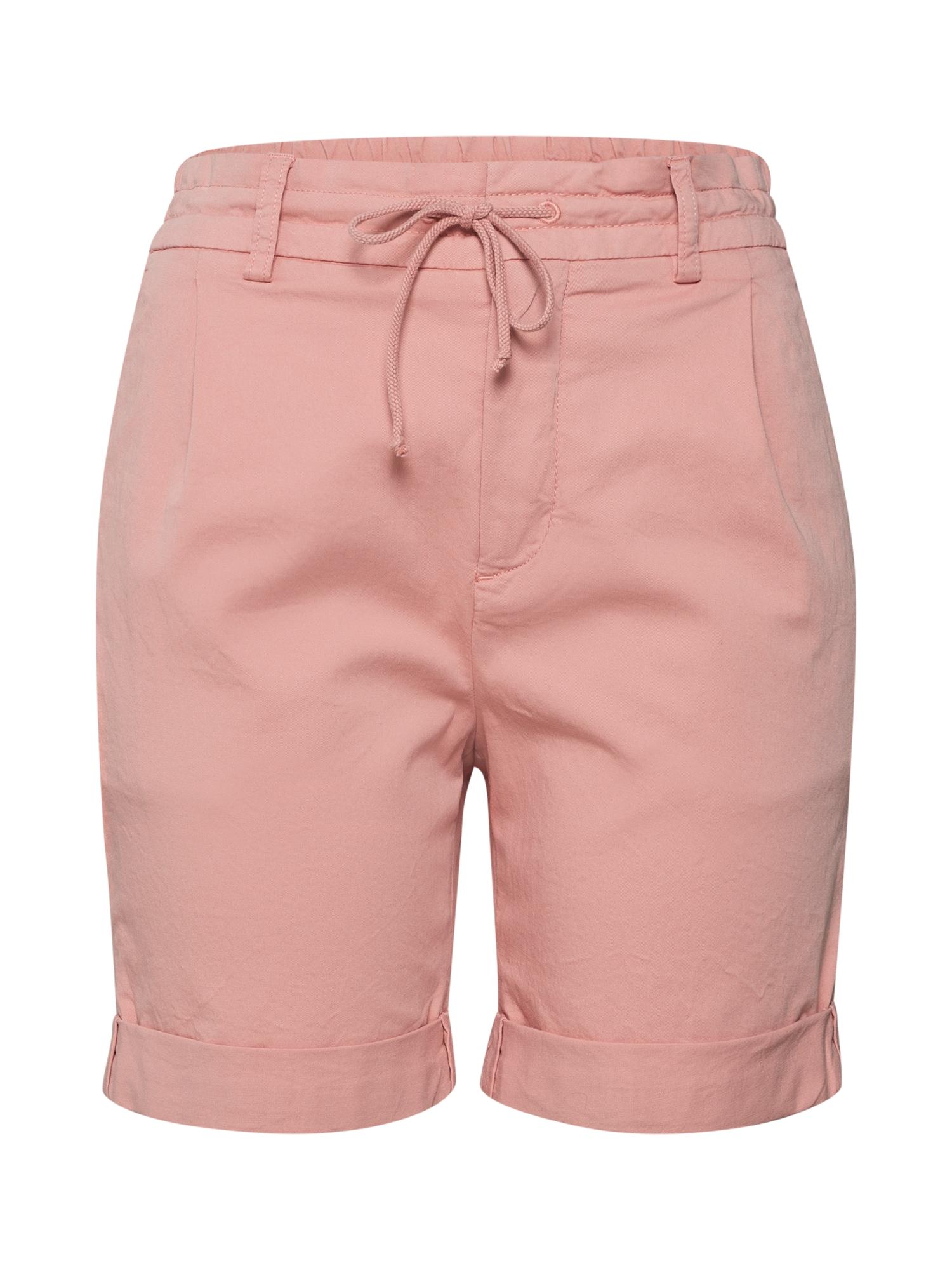Kalhoty se sklady v pase TRAINEE růžová DRYKORN