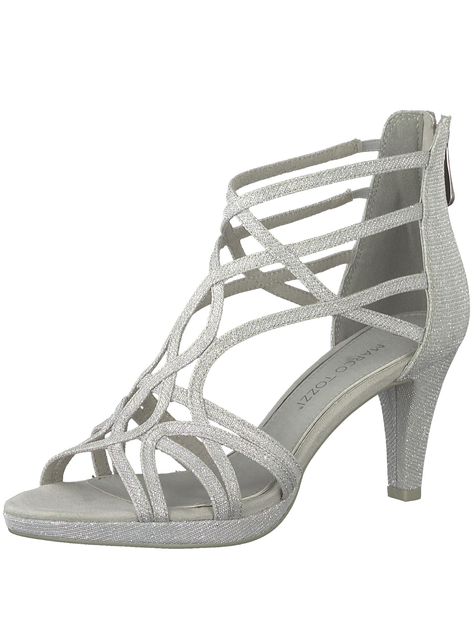 Páskové sandály stříbrně šedá MARCO TOZZI
