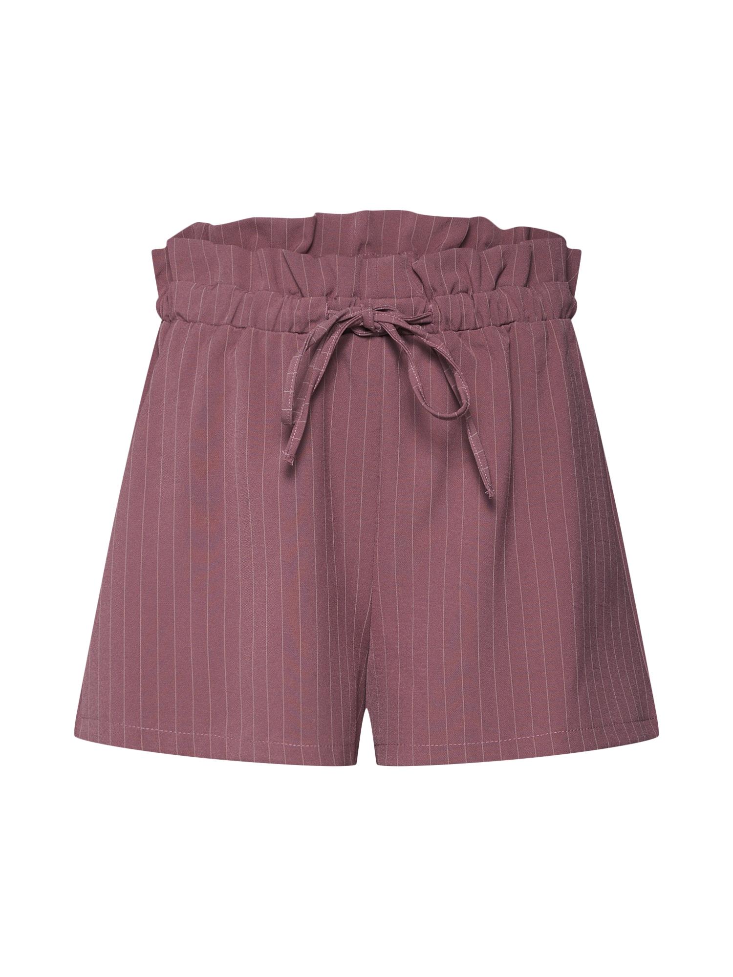Kalhoty PINSTRIPE GATHERED starorůžová Missguided