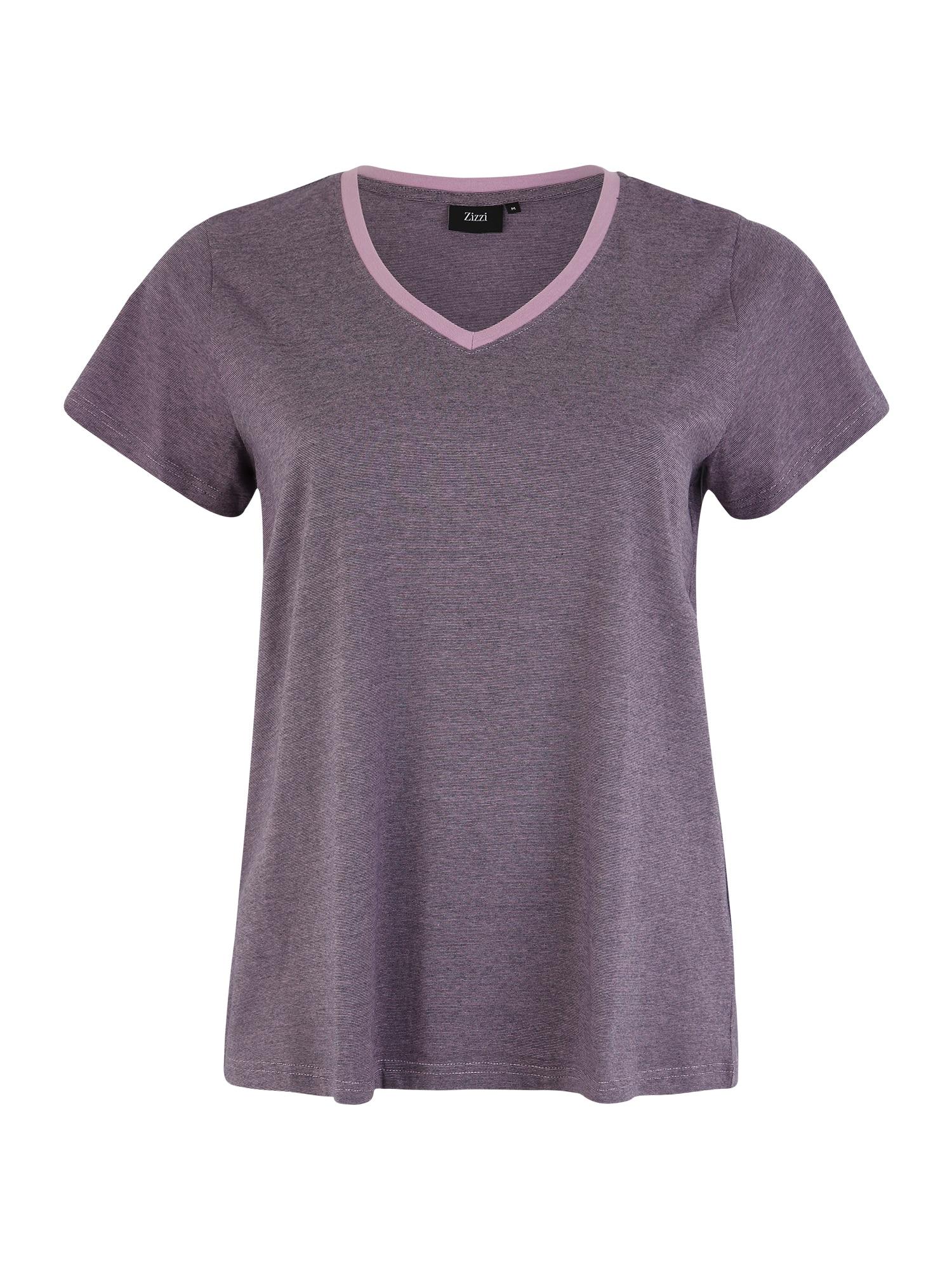 Tričko SIRRA kouřově šedá fialová Zizzi