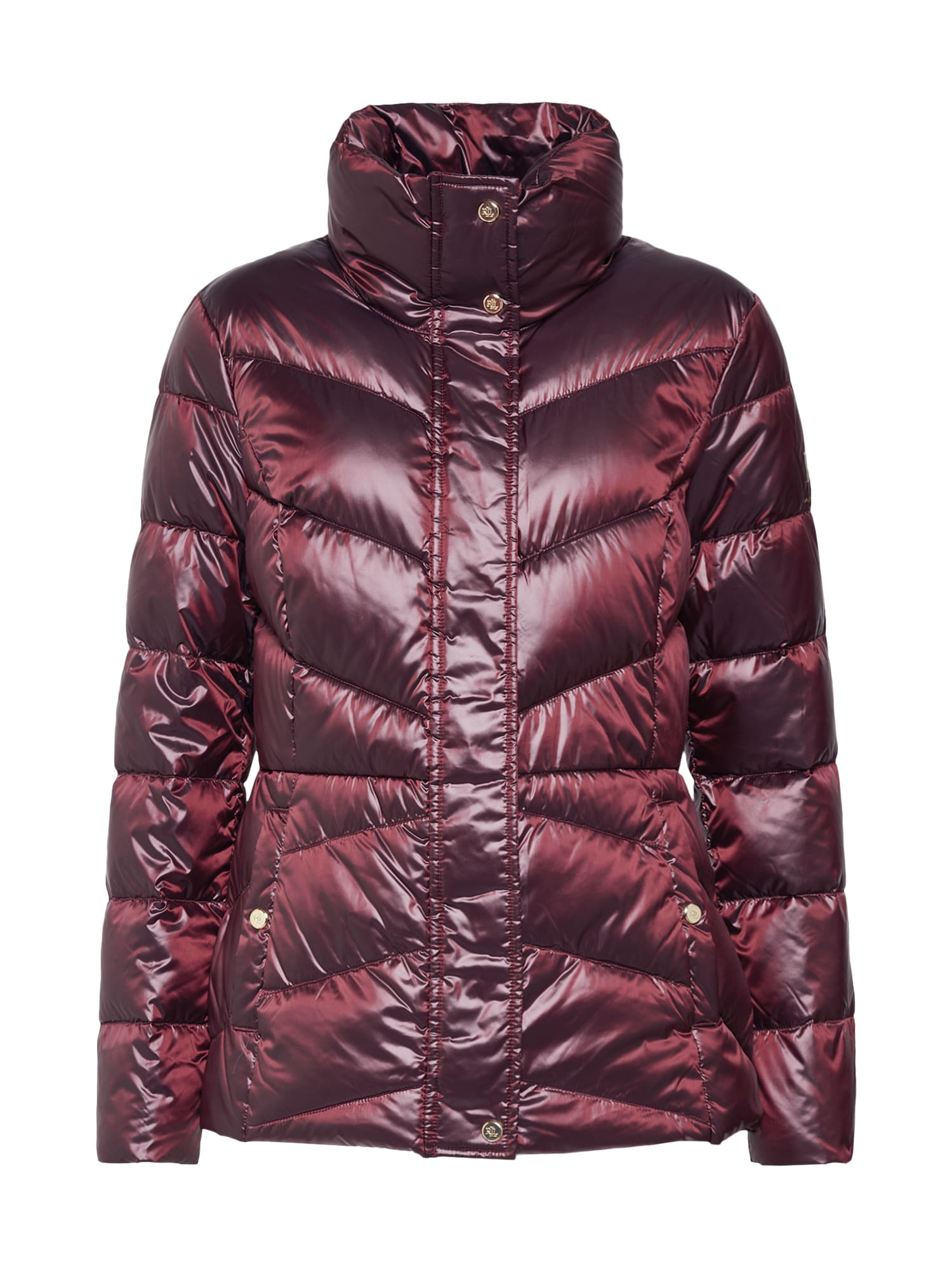 Přechodná bunda MTL PACKABLE-JACKET vínově červená Lauren Ralph Lauren