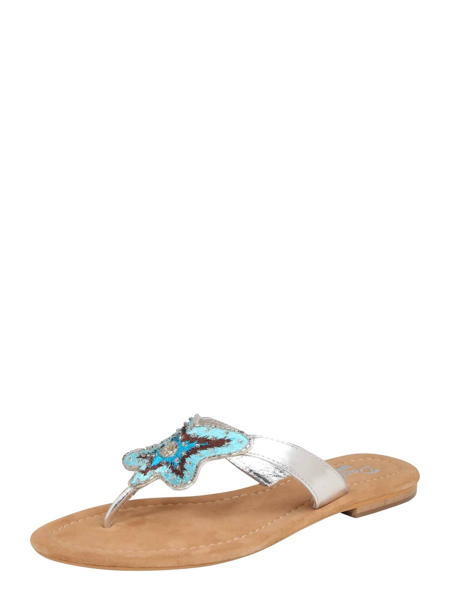 Pantofle béžová modrá stříbrná Dockers By Gerli