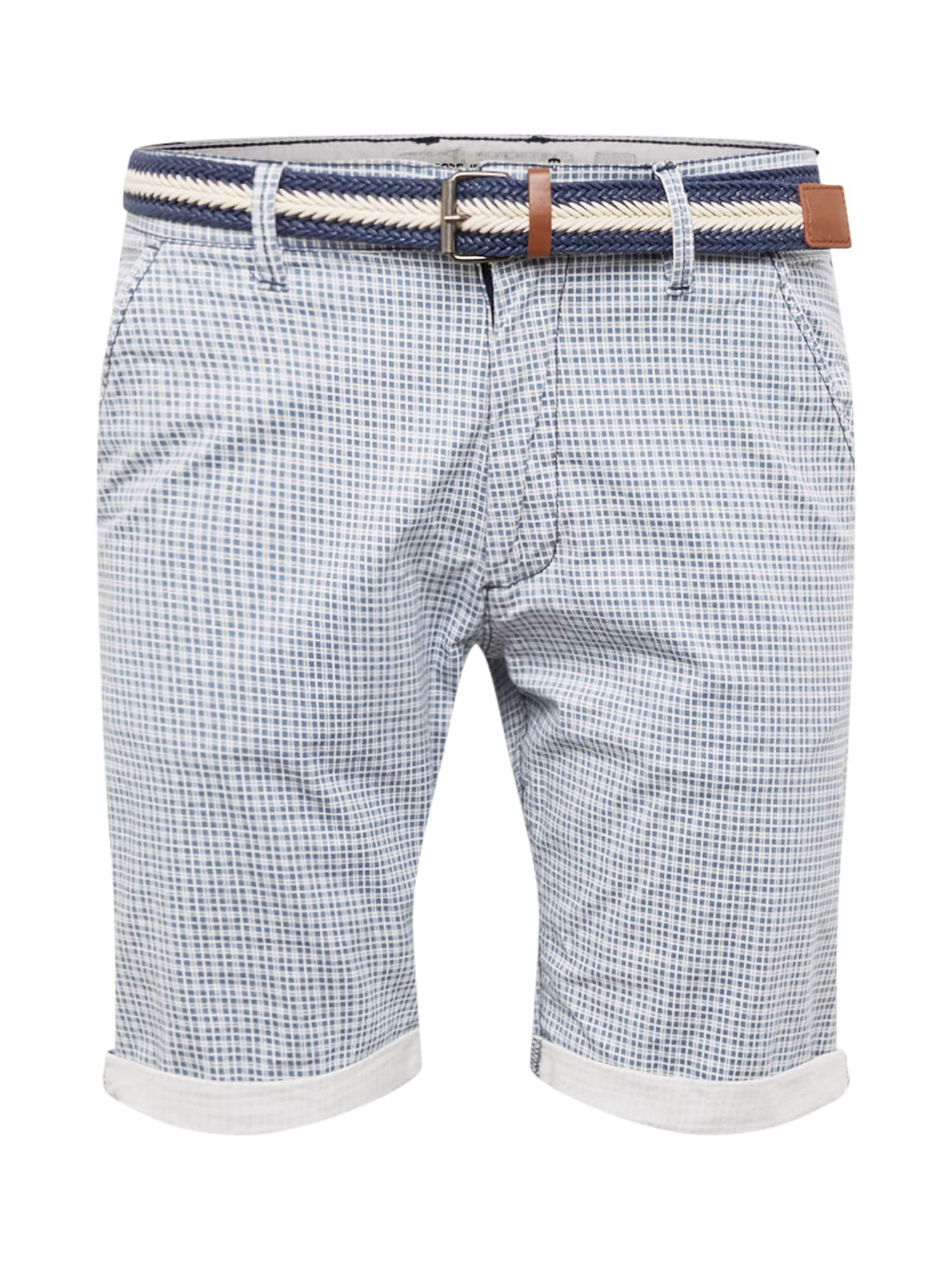 Kalhoty modrá bílá INDICODE JEANS