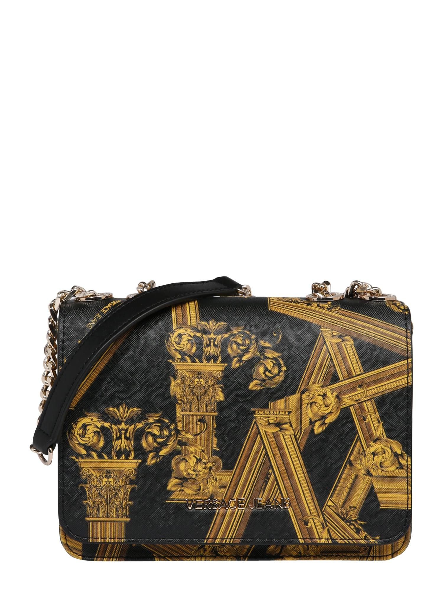 Taška přes rameno žlutá černá Versace Jeans