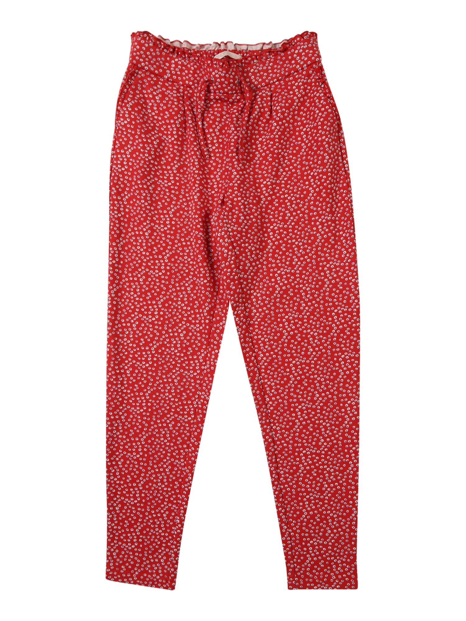 Kalhoty konPOPTRASH PRINT FRILL PANT červená KIDS ONLY