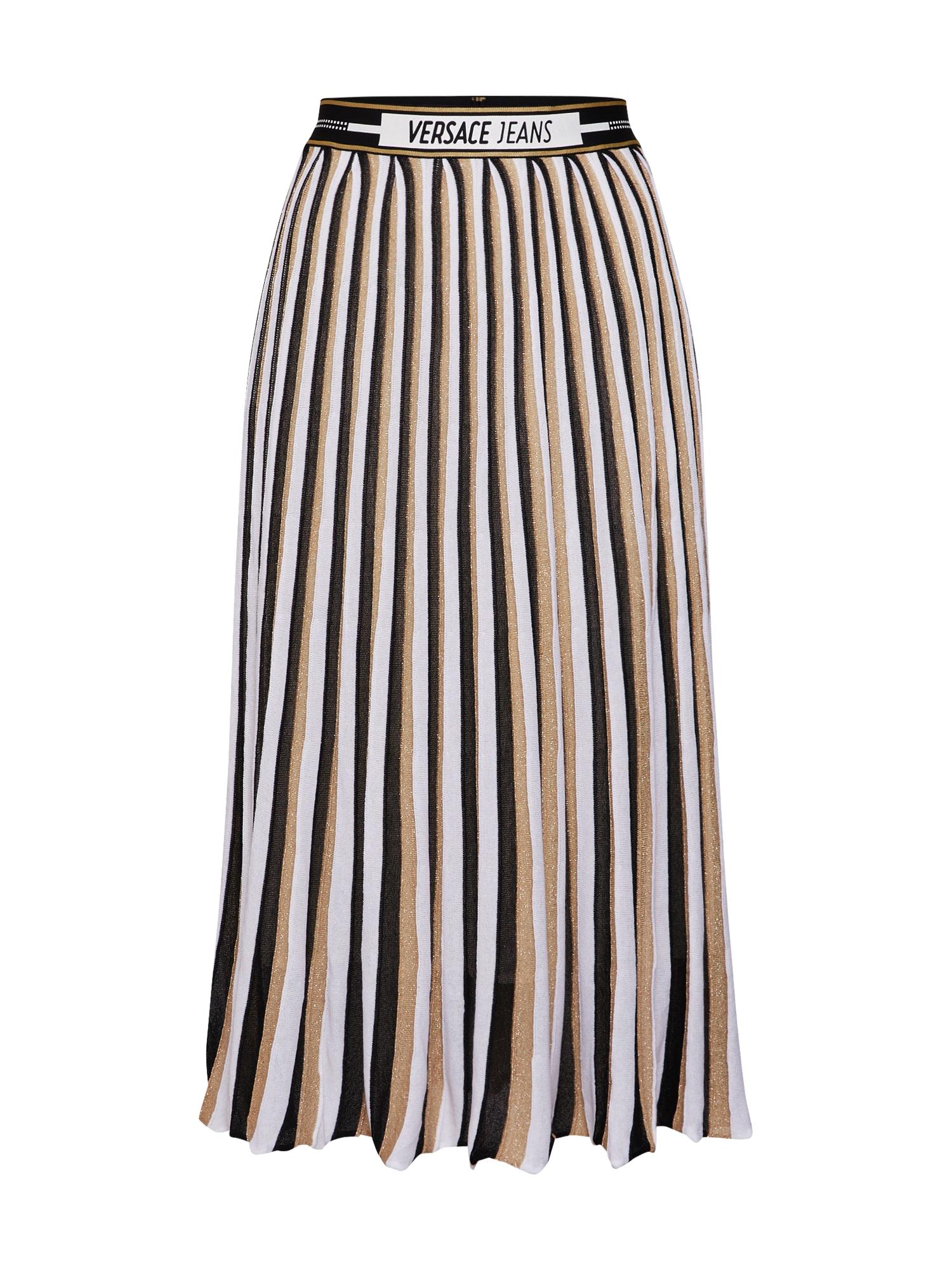 Sukně TDPM07 krémová černá bílá Versace Jeans