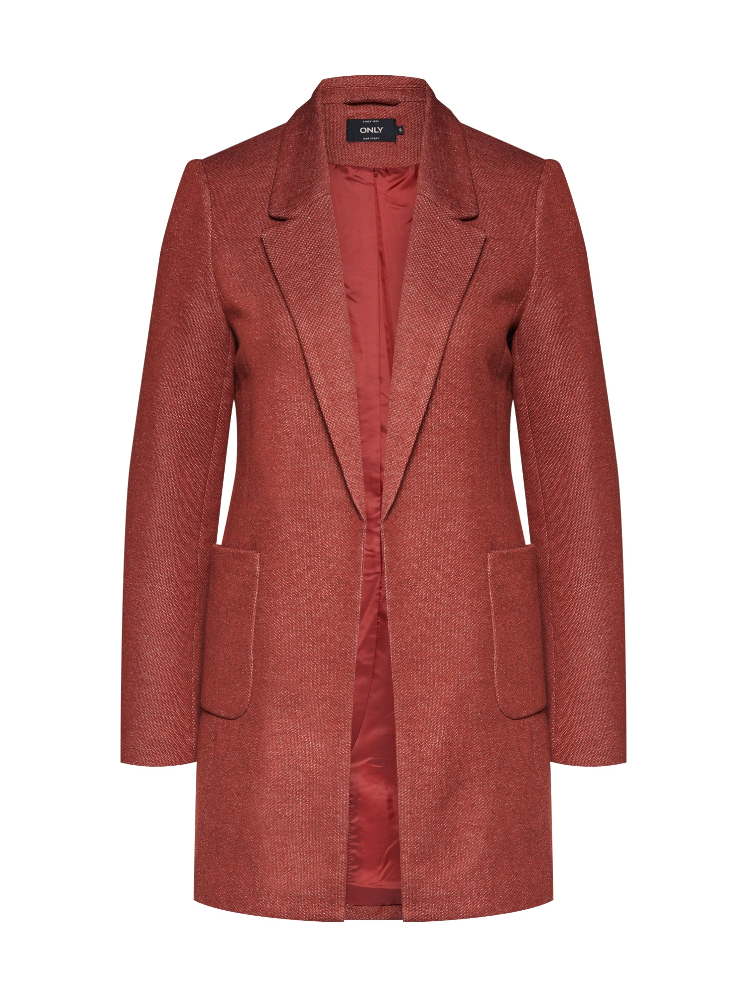 Přechodný kabát BAKER LIGHT BLAZER červená ONLY