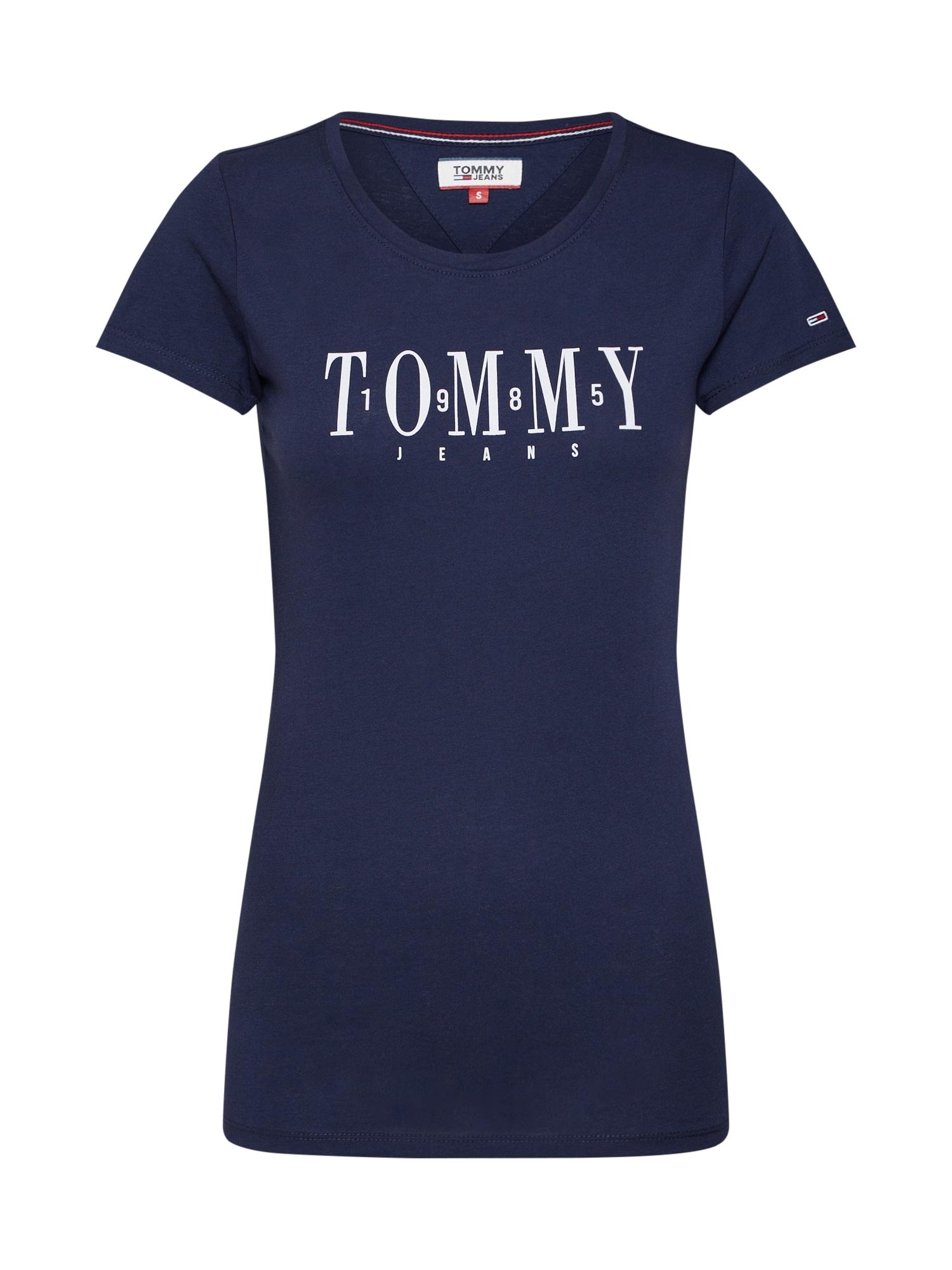 Tričko TJW CASUAL TOMMY TEE námořnická modř bílá Tommy Jeans