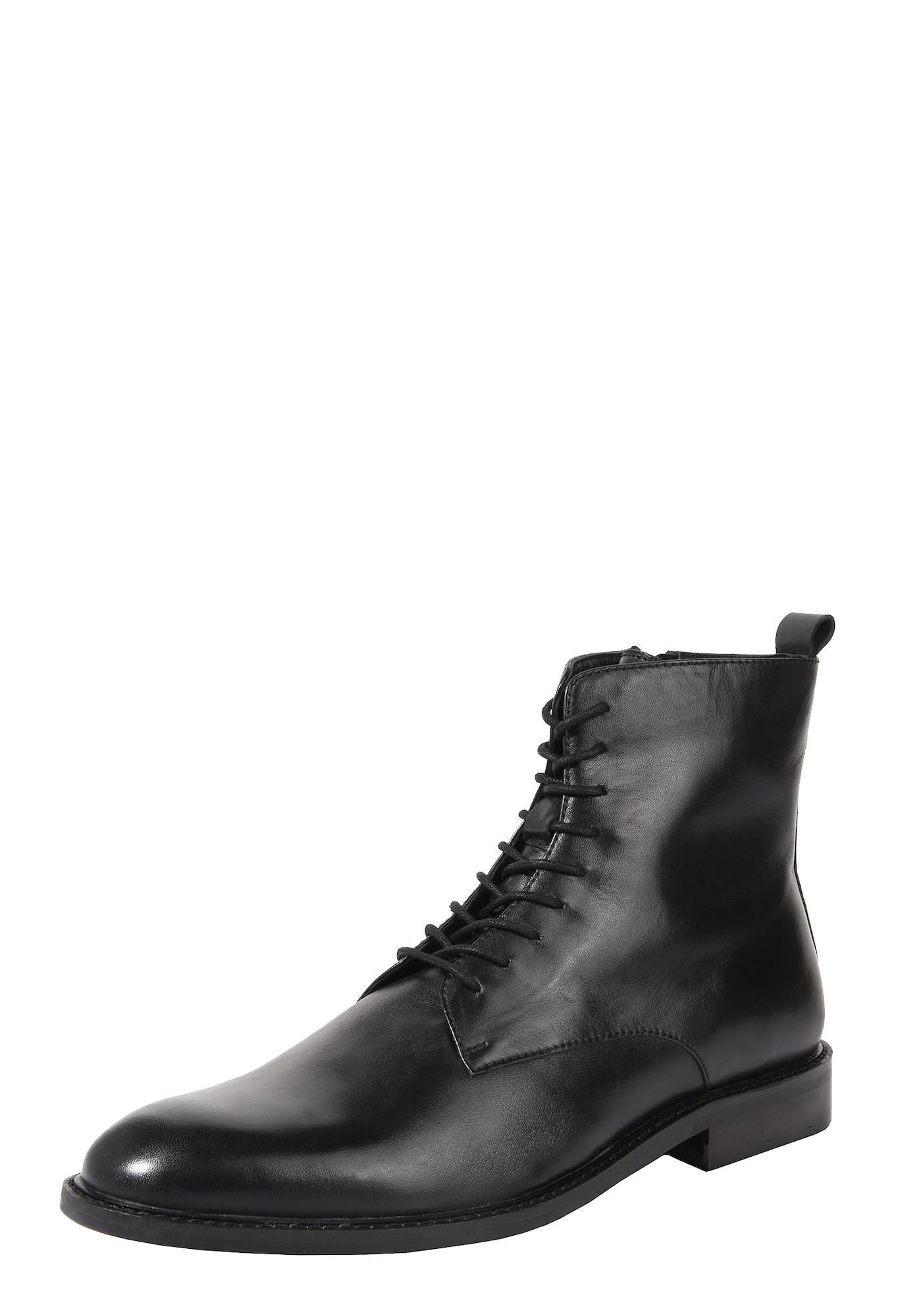 Šněrovací boty Flynn černá ABOUT YOU