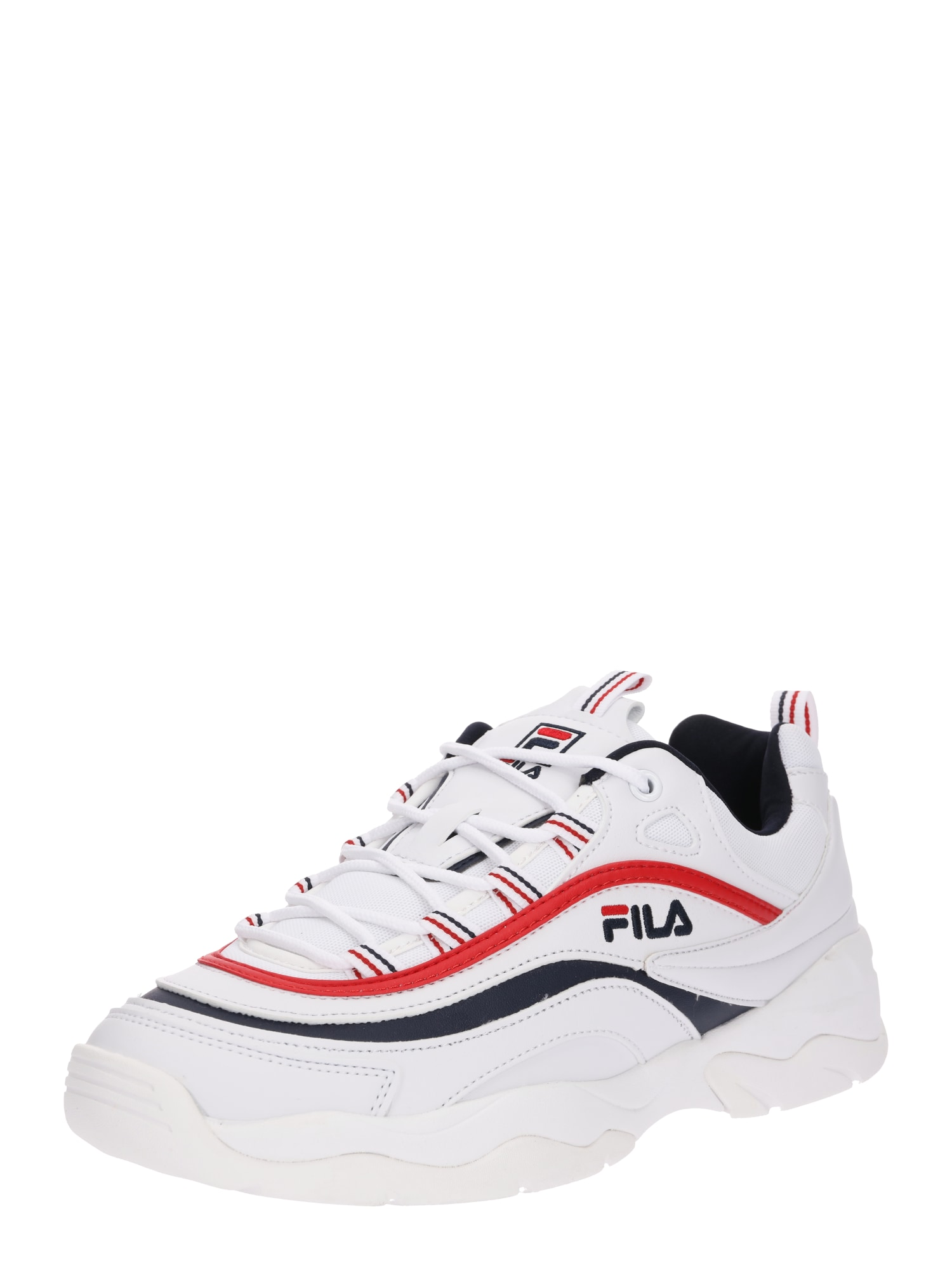 FILA, Heren Sneakers laag 'Ray Low', nachtblauw / rood / wit