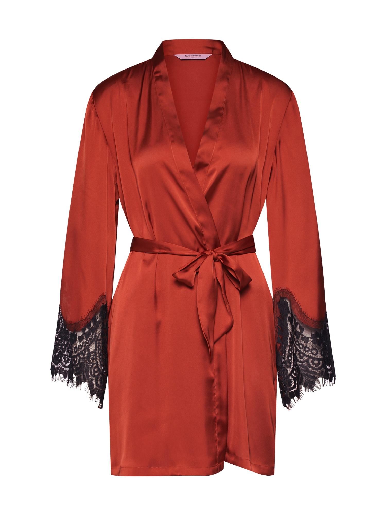 Župan Kimono Satin Big Scallop Lace oranžová Hunkemöller