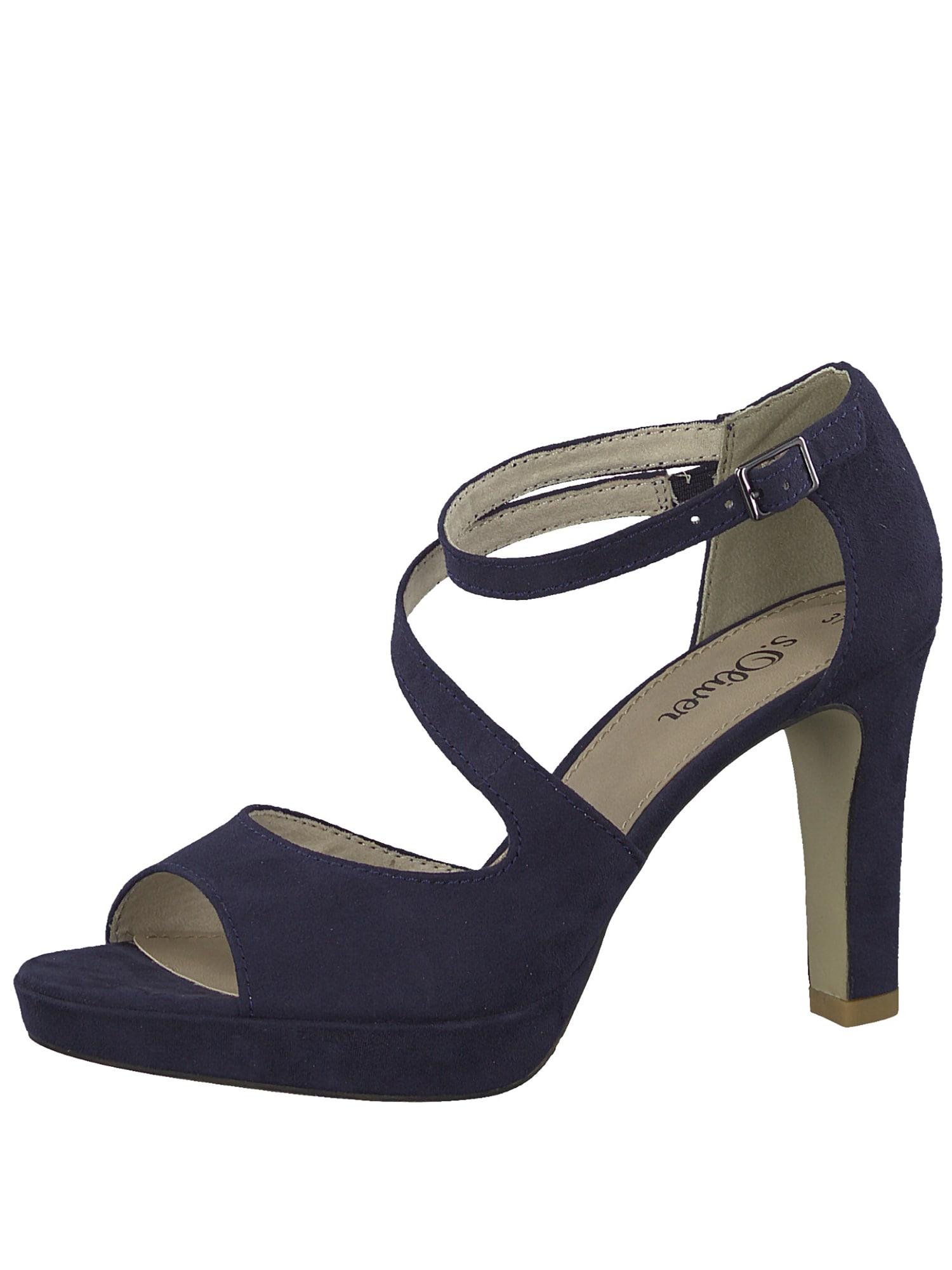 Páskové sandály Strappy Heel námořnická modř S.Oliver RED LABEL