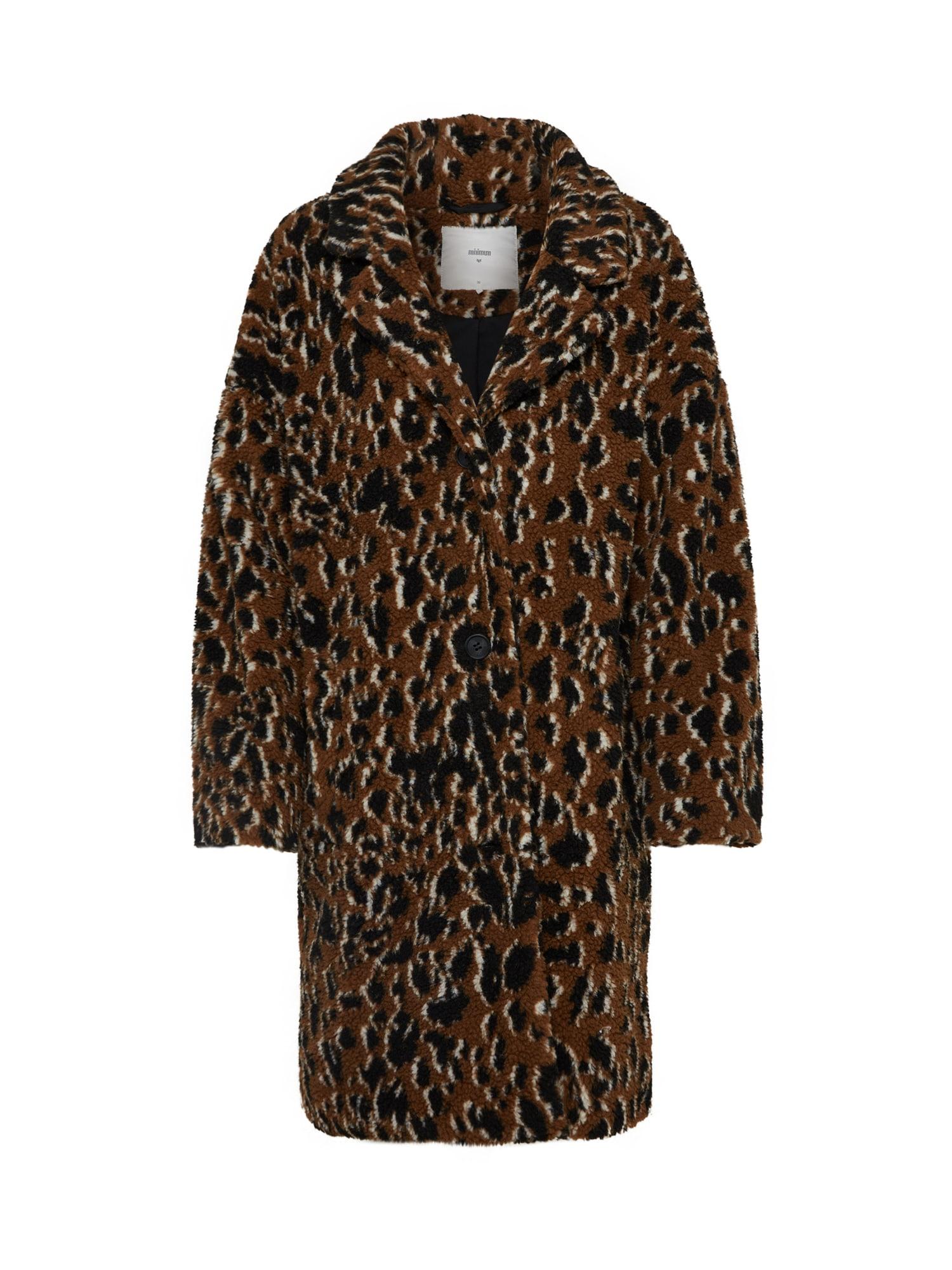 Přechodný kabát belinde hnědá černá Minimum