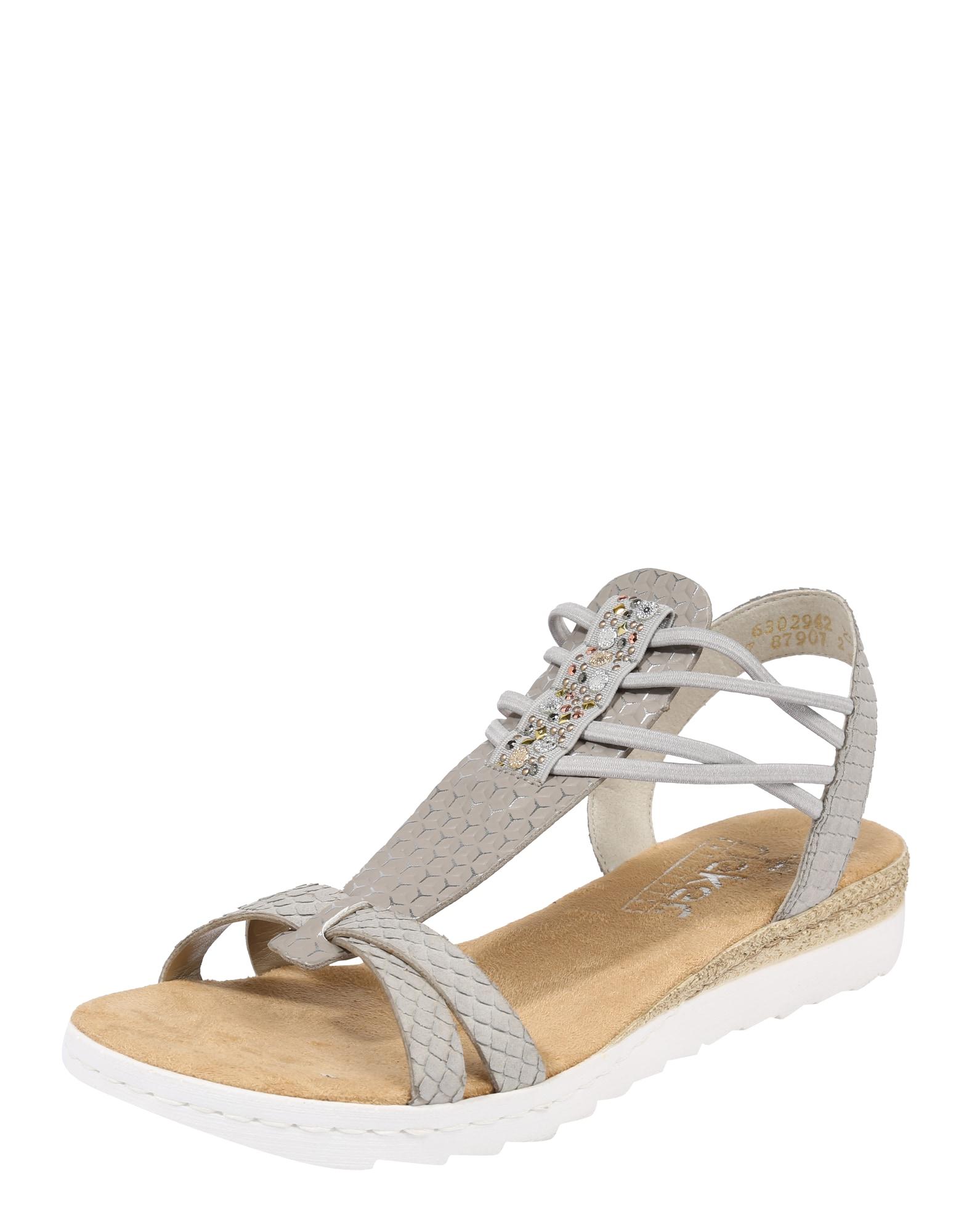 Páskové sandály Schimmer šedá RIEKER
