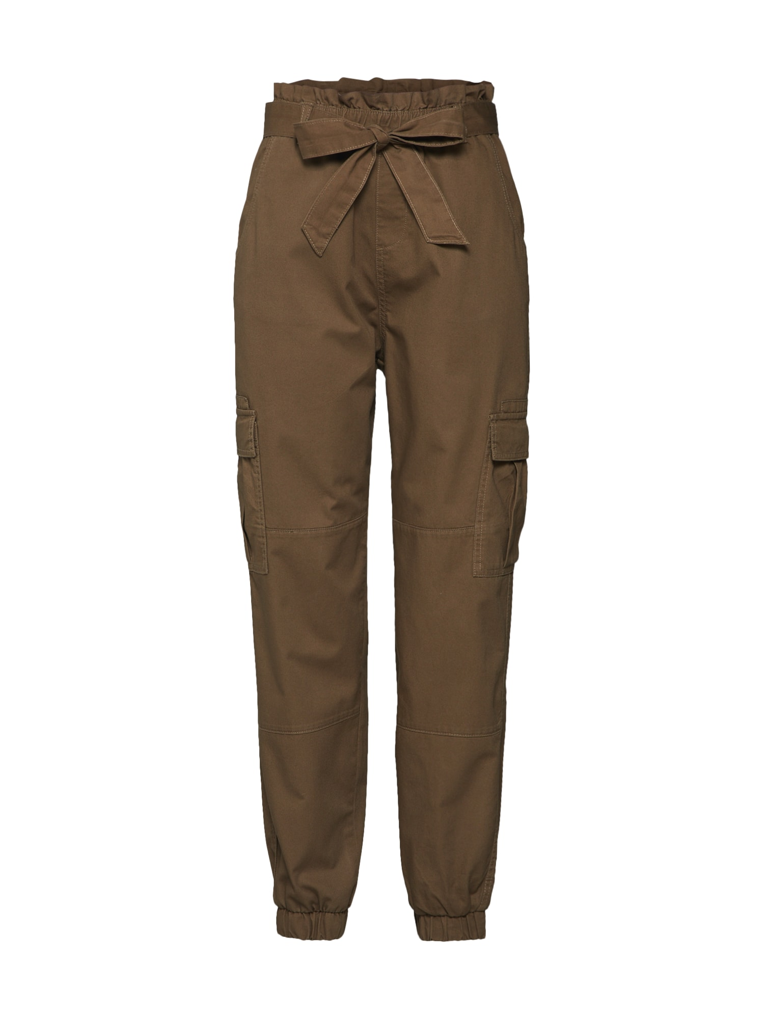 Kalhoty se sklady v pase Miles Ancle khaki ONLY