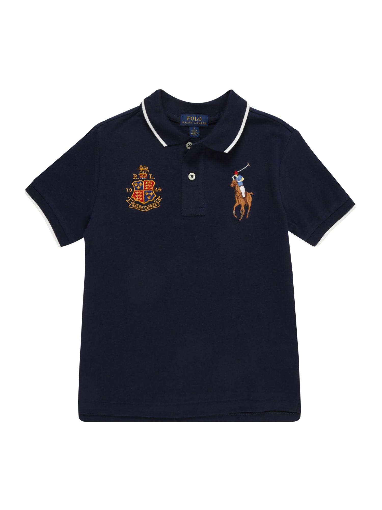 Tričko FEATHERWEIGHT MESH námořnická modř POLO RALPH LAUREN