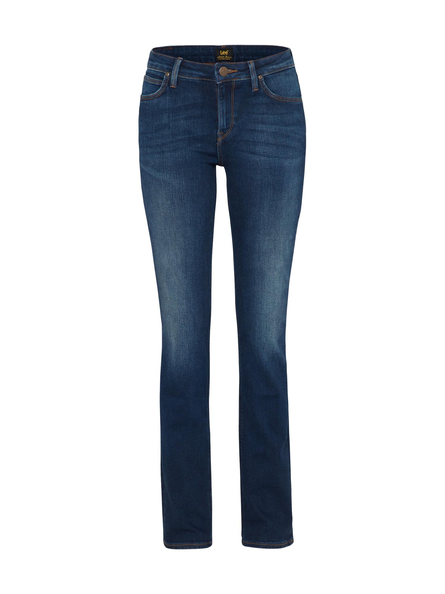 Lee Dames Jeans Marion Straight blue denim