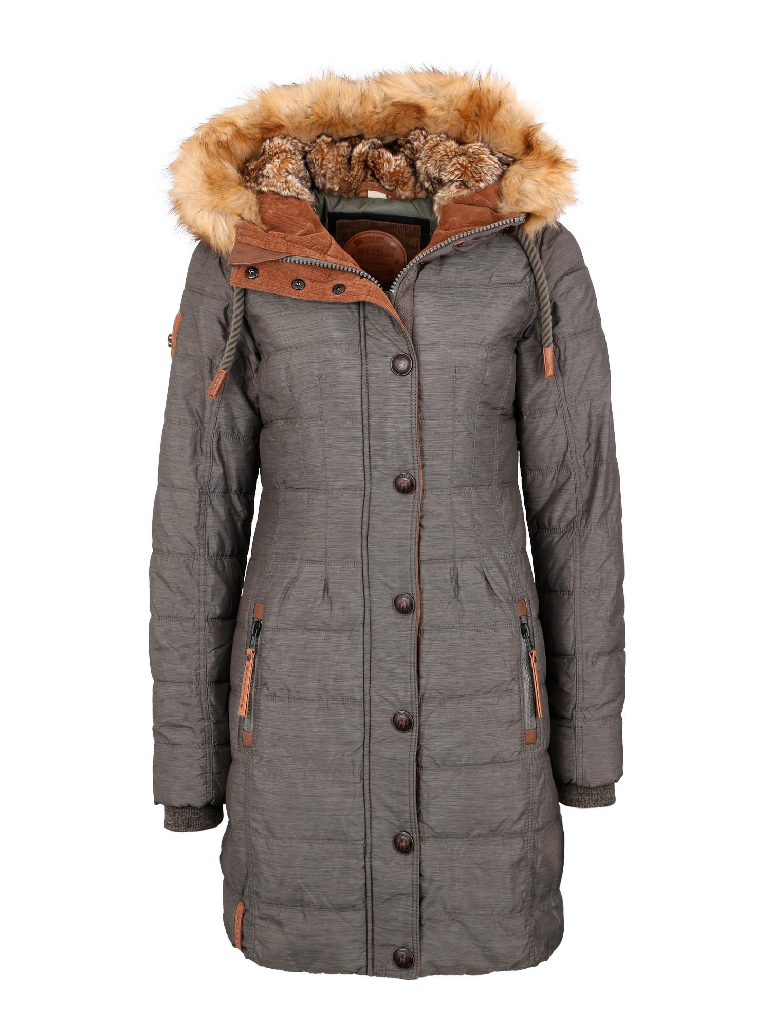 Zimní kabát olivová Naketano