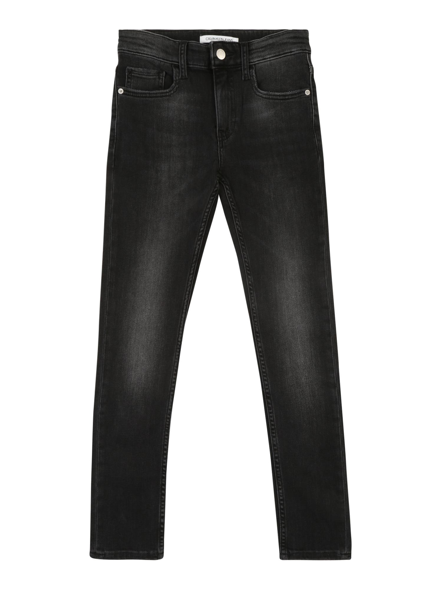 Džíny RICKETY černá džínovina Calvin Klein Jeans