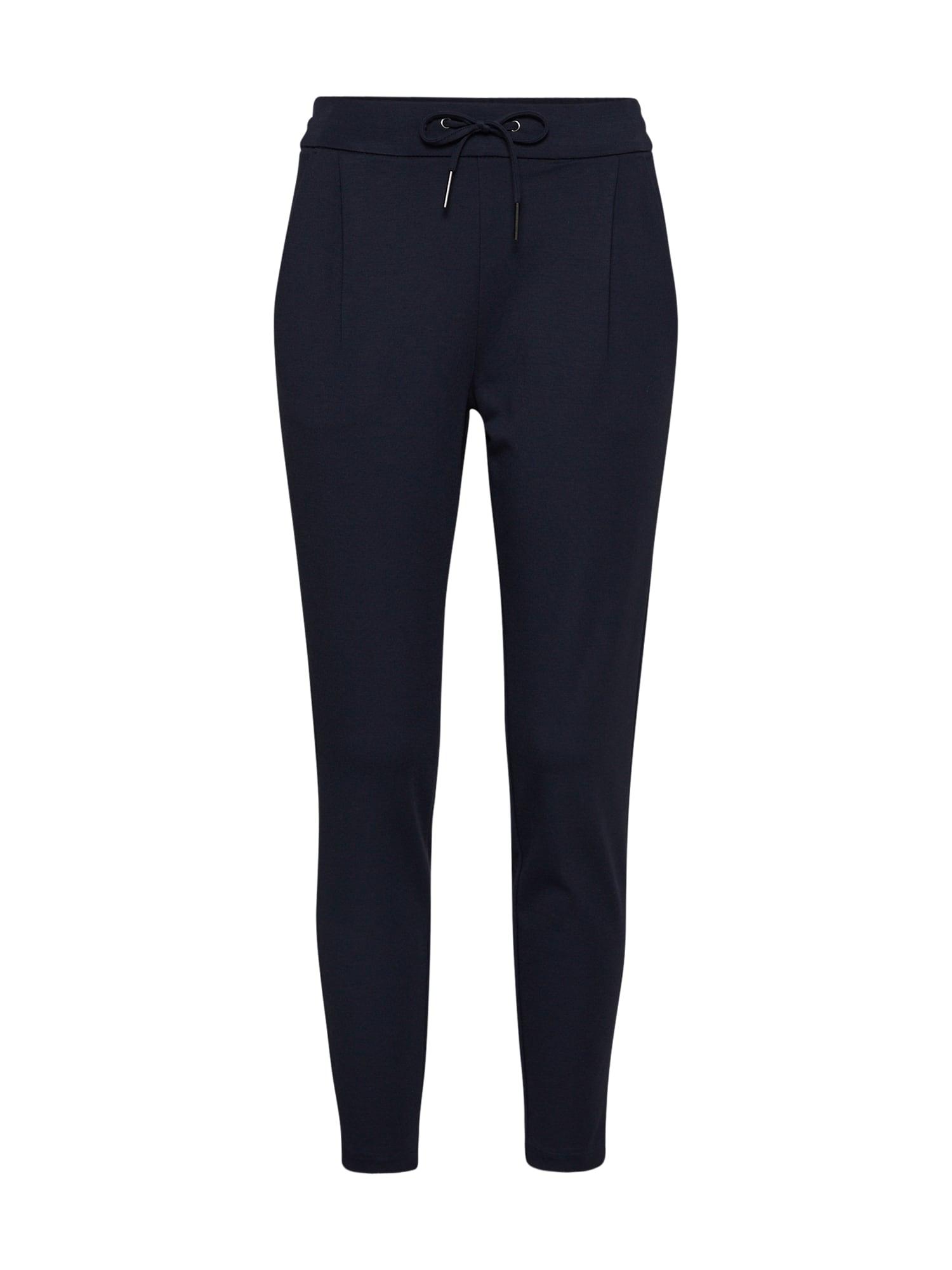Kalhoty se sklady v pase noční modrá VERO MODA