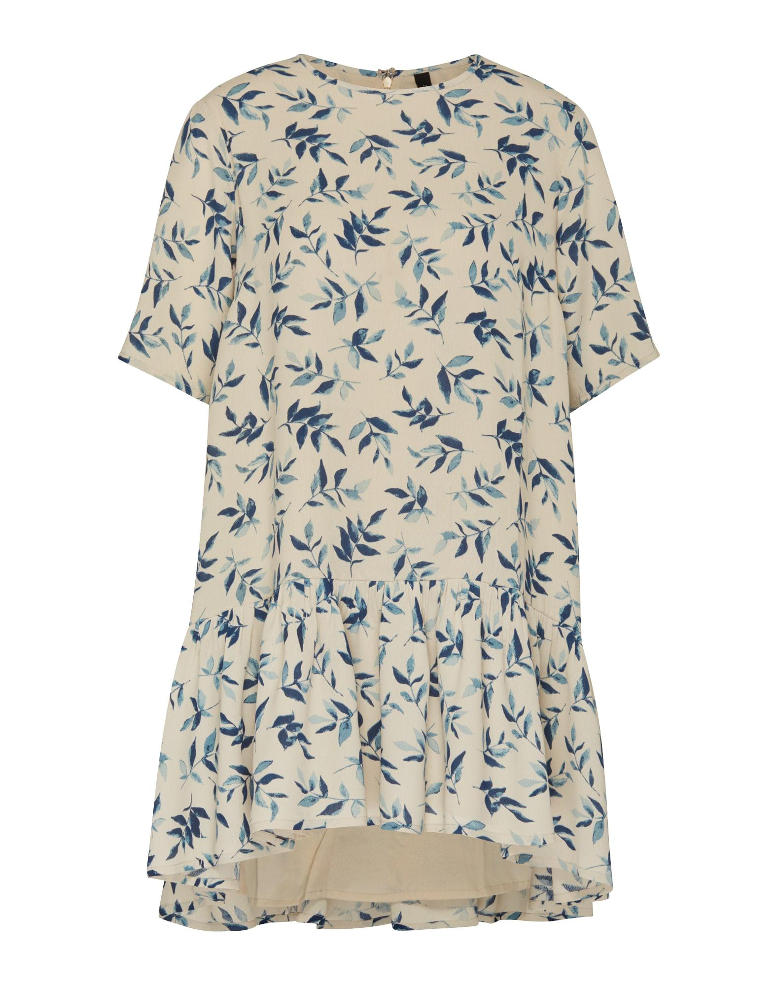 Letní šaty Yasleaf béžová marine modrá Y.A.S