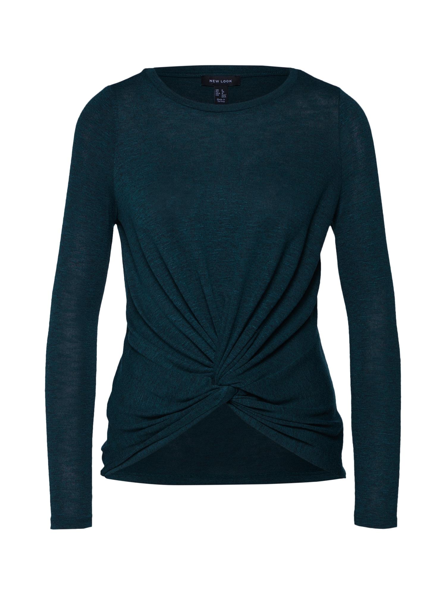 Tričko TWIST tmavě zelená NEW LOOK