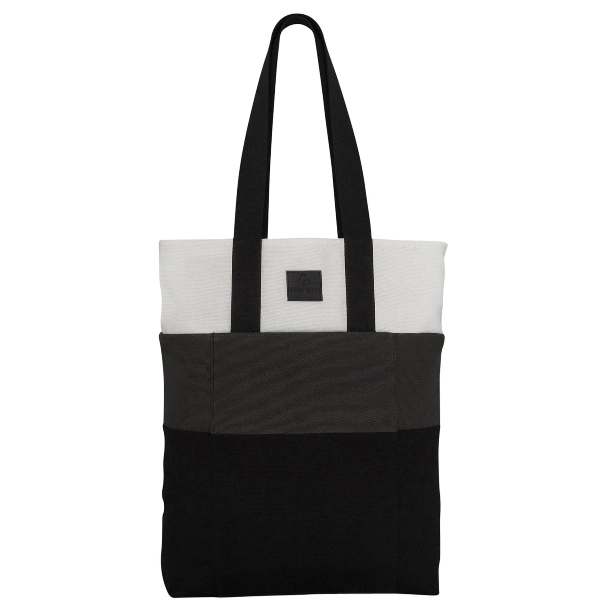 Nákupní taška Zoe šedá černá bílá Johnny Urban