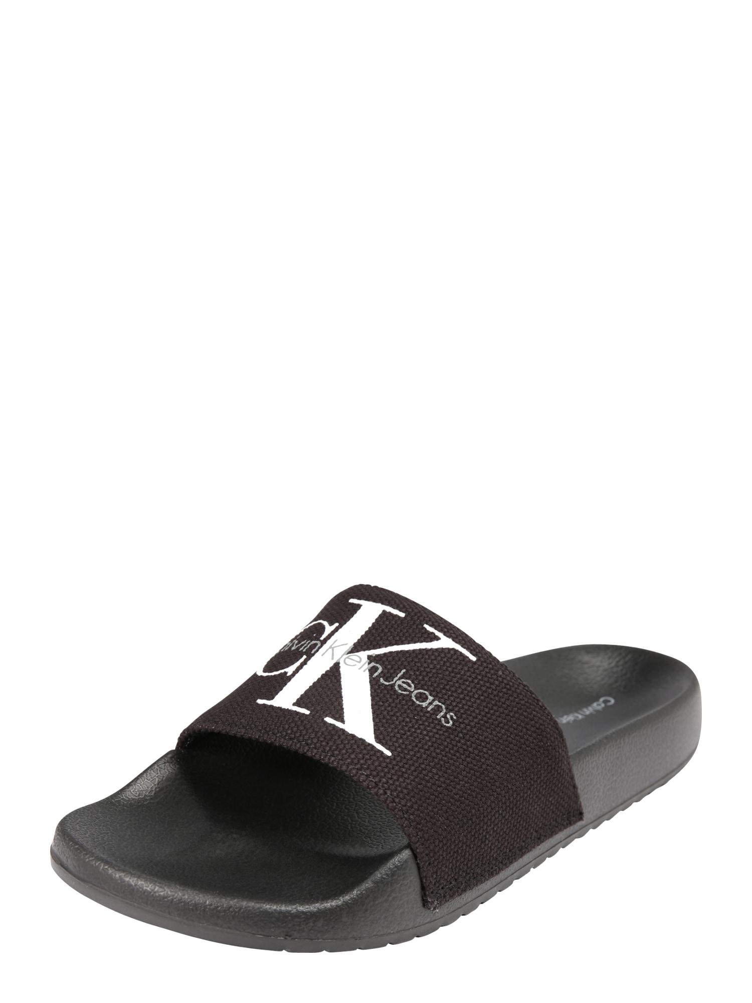 Pantofle Chantal černá bílá Calvin Klein Jeans