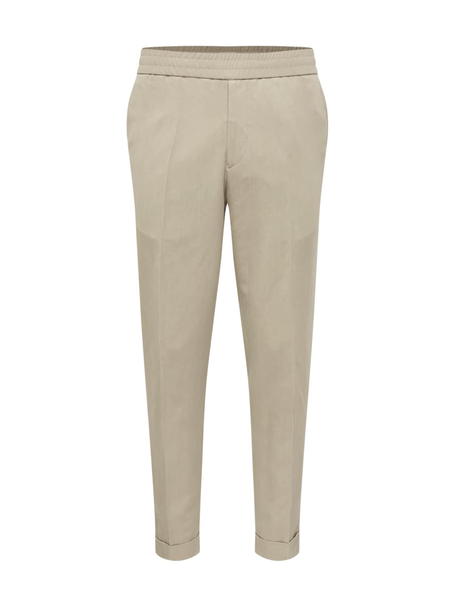 Kalhoty M. Terry Cropped Linen Slacks khaki Filippa K