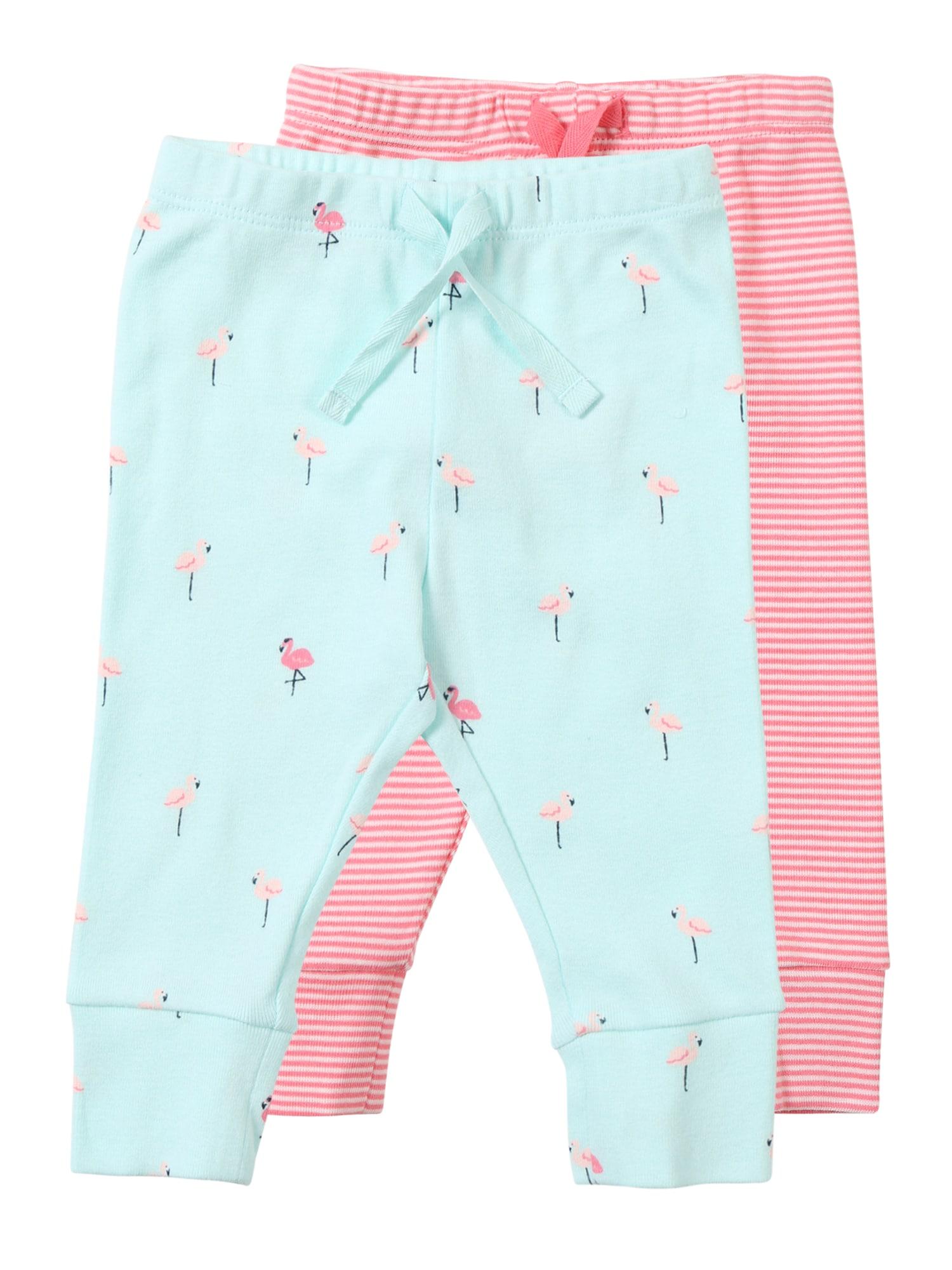 Kalhoty modrá růžová GAP
