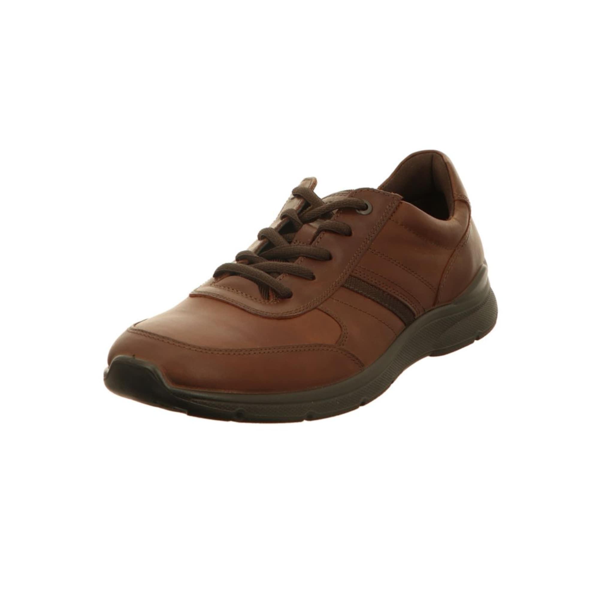 Šněrovací boty hnědá tmavě hnědá ECCO