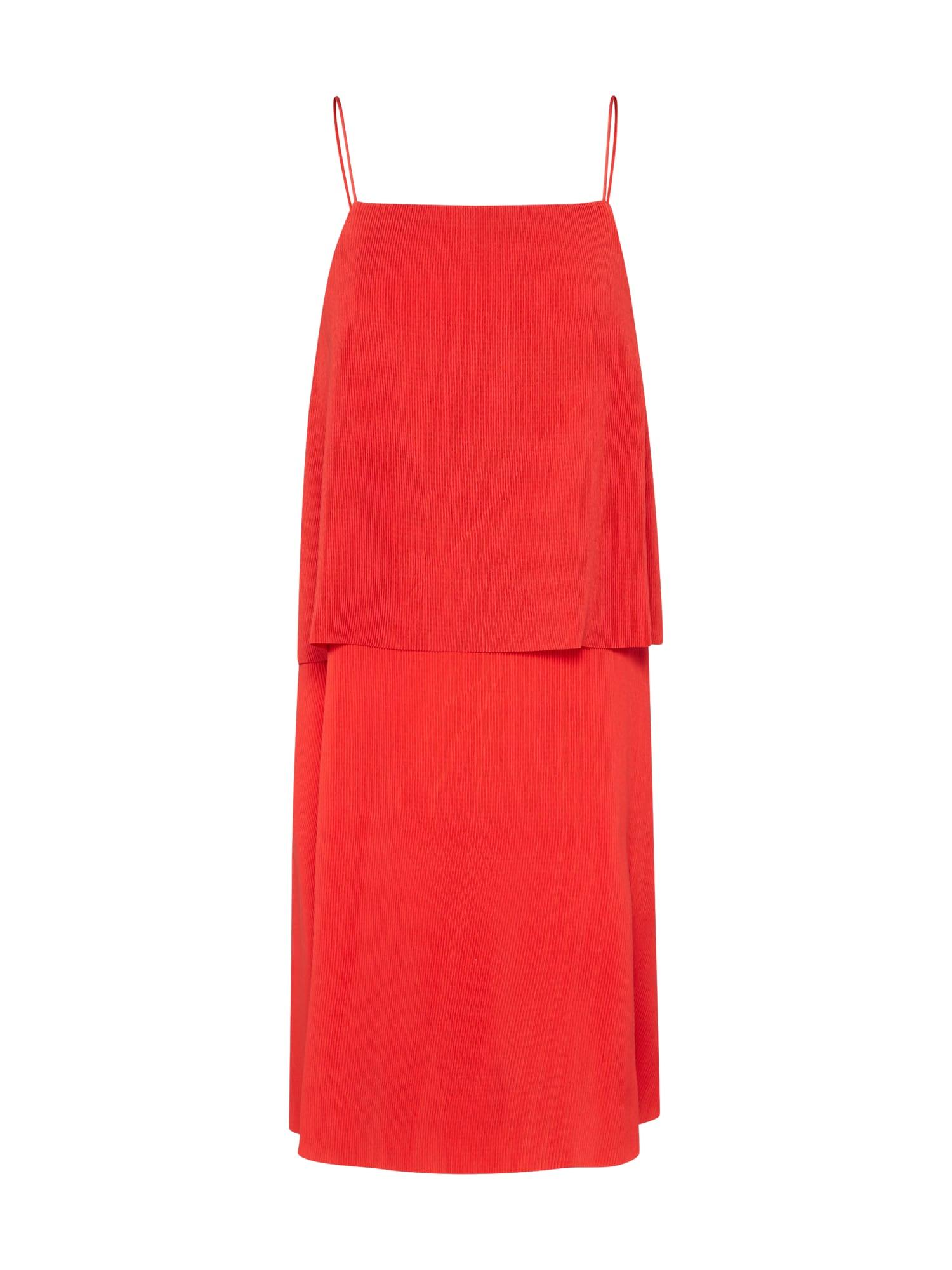 Koktejlové šaty Petra ohnivá červená Samsoe & Samsoe