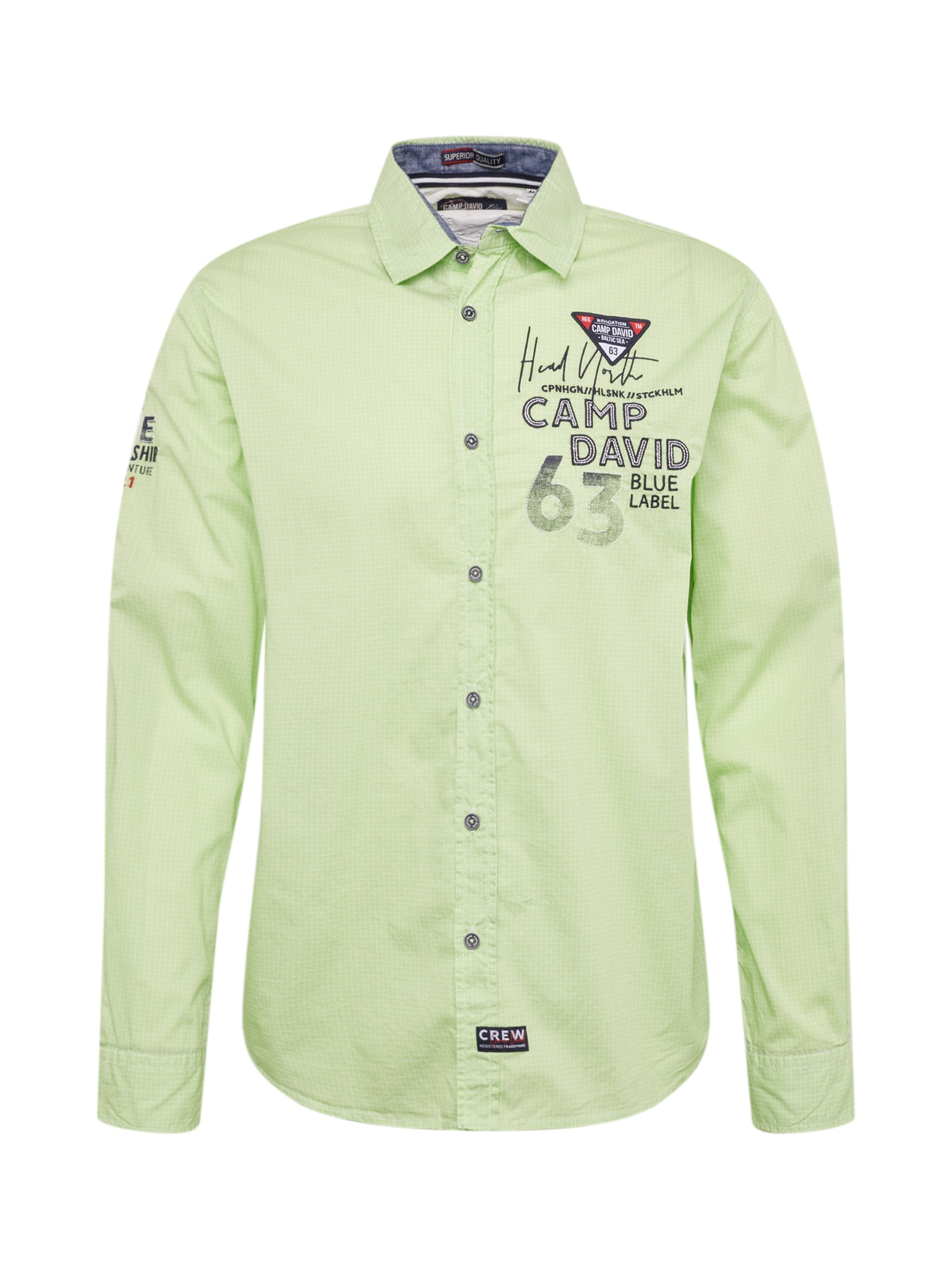 Košile svítivě zelená černá CAMP DAVID