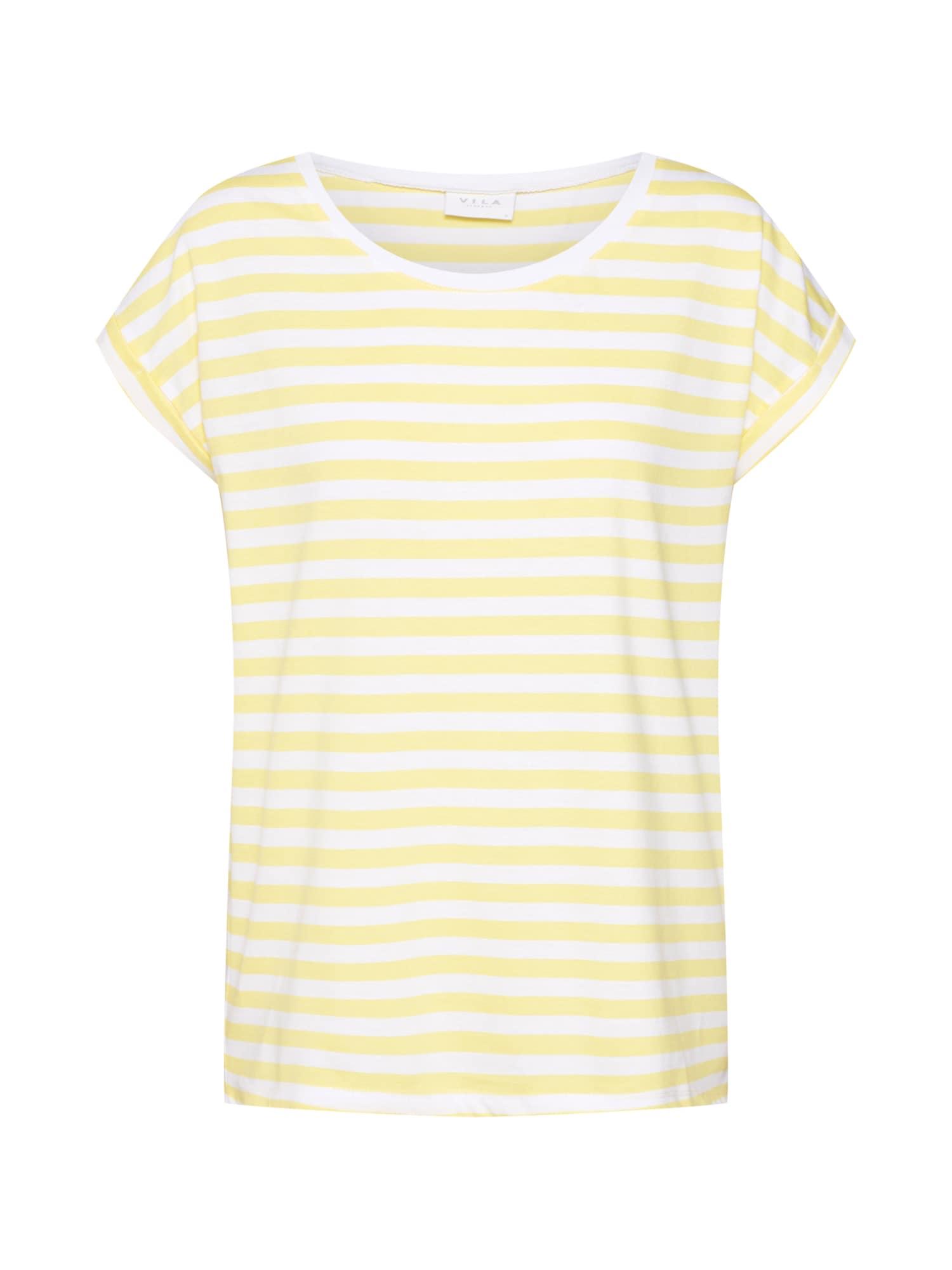 Tričko Dreamers žlutá bílá VILA