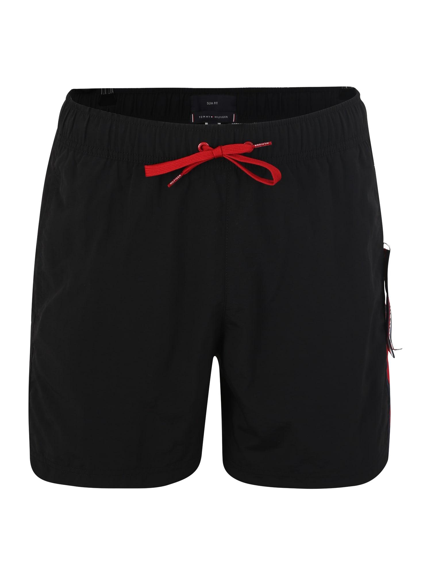 Plavecké šortky SF MEDIUM DRAWSTRING černá Tommy Hilfiger Underwear