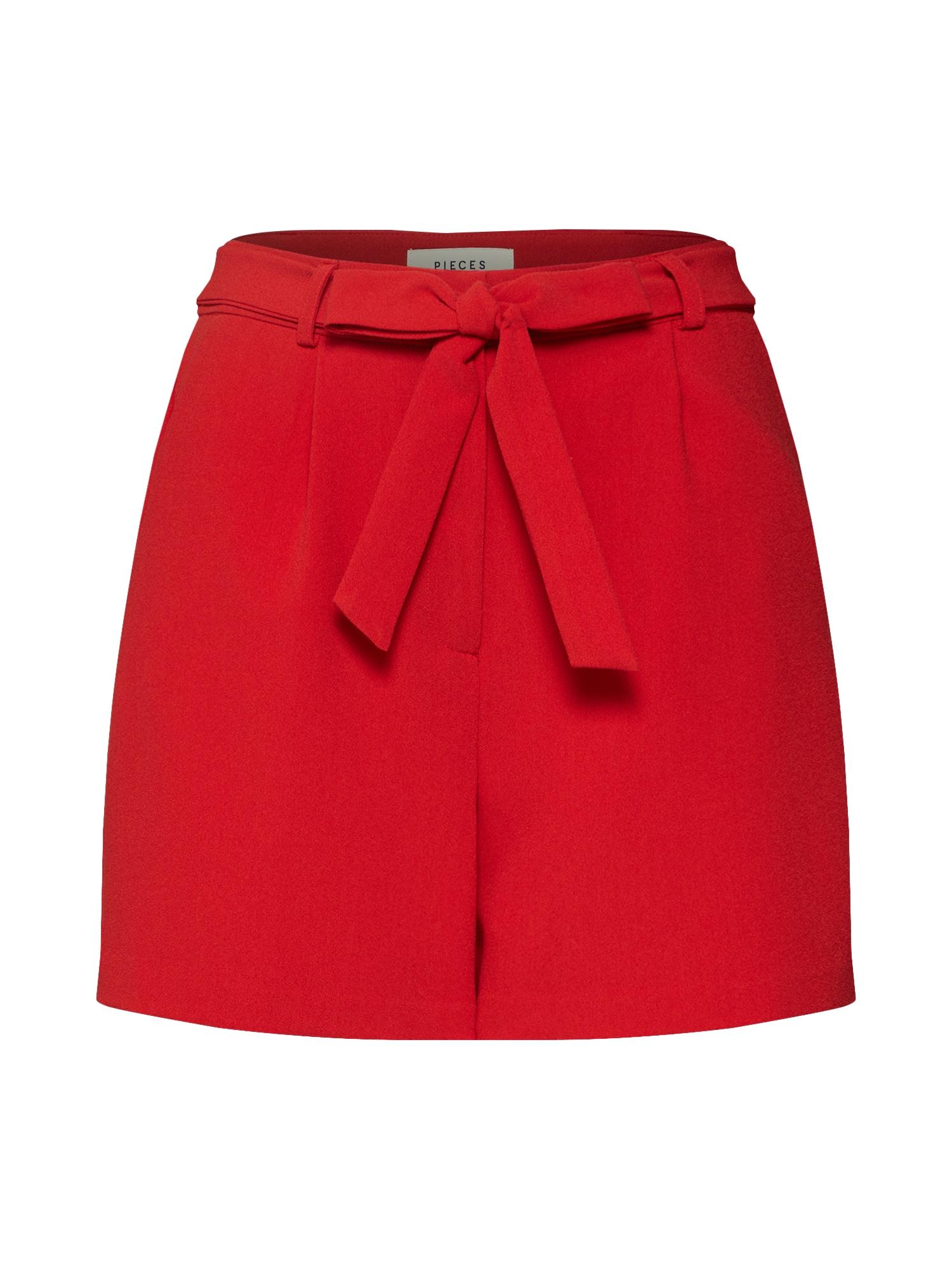 Kalhoty HOY červená PIECES