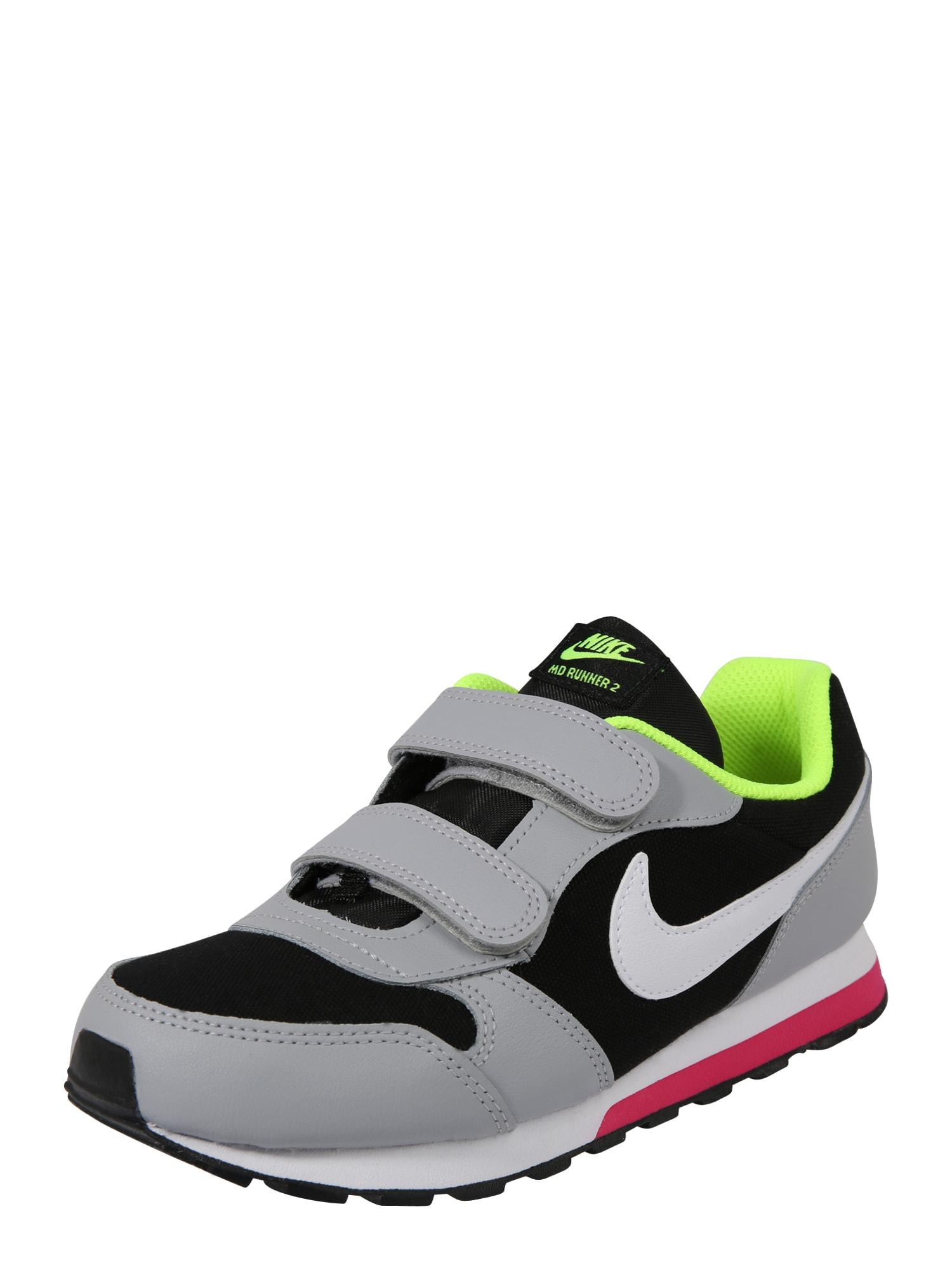 Tenisky Runner 2 šedá svítivě zelená černá bílá Nike Sportswear