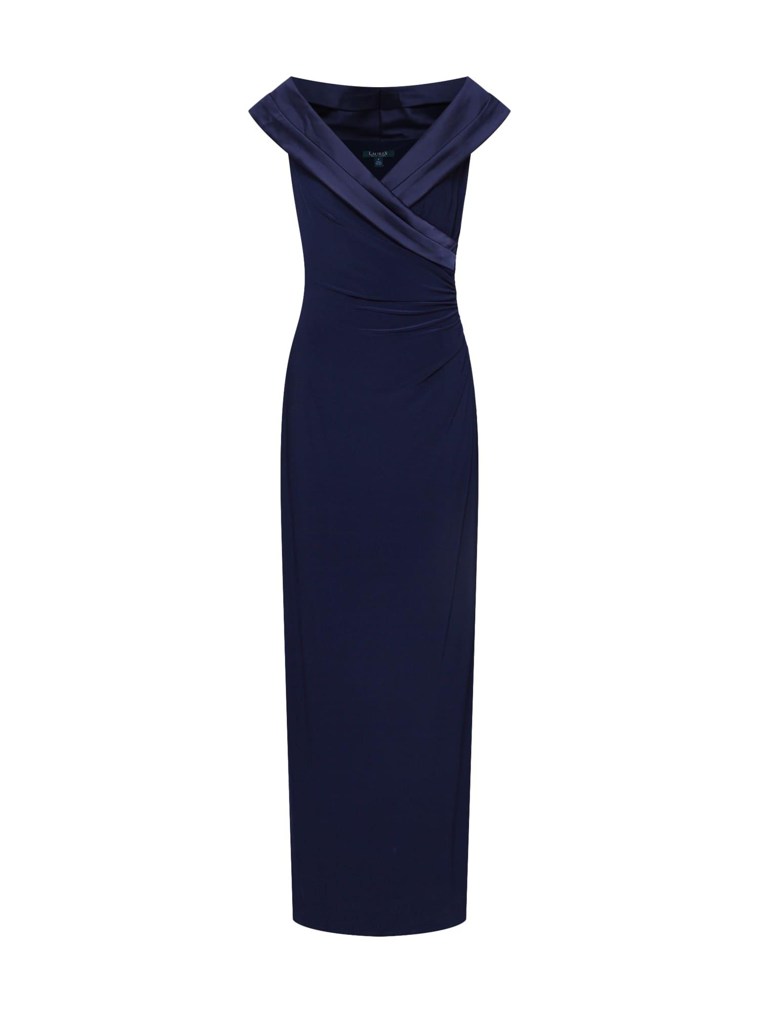Společenské šaty LEONETTA námořnická modř Lauren Ralph Lauren