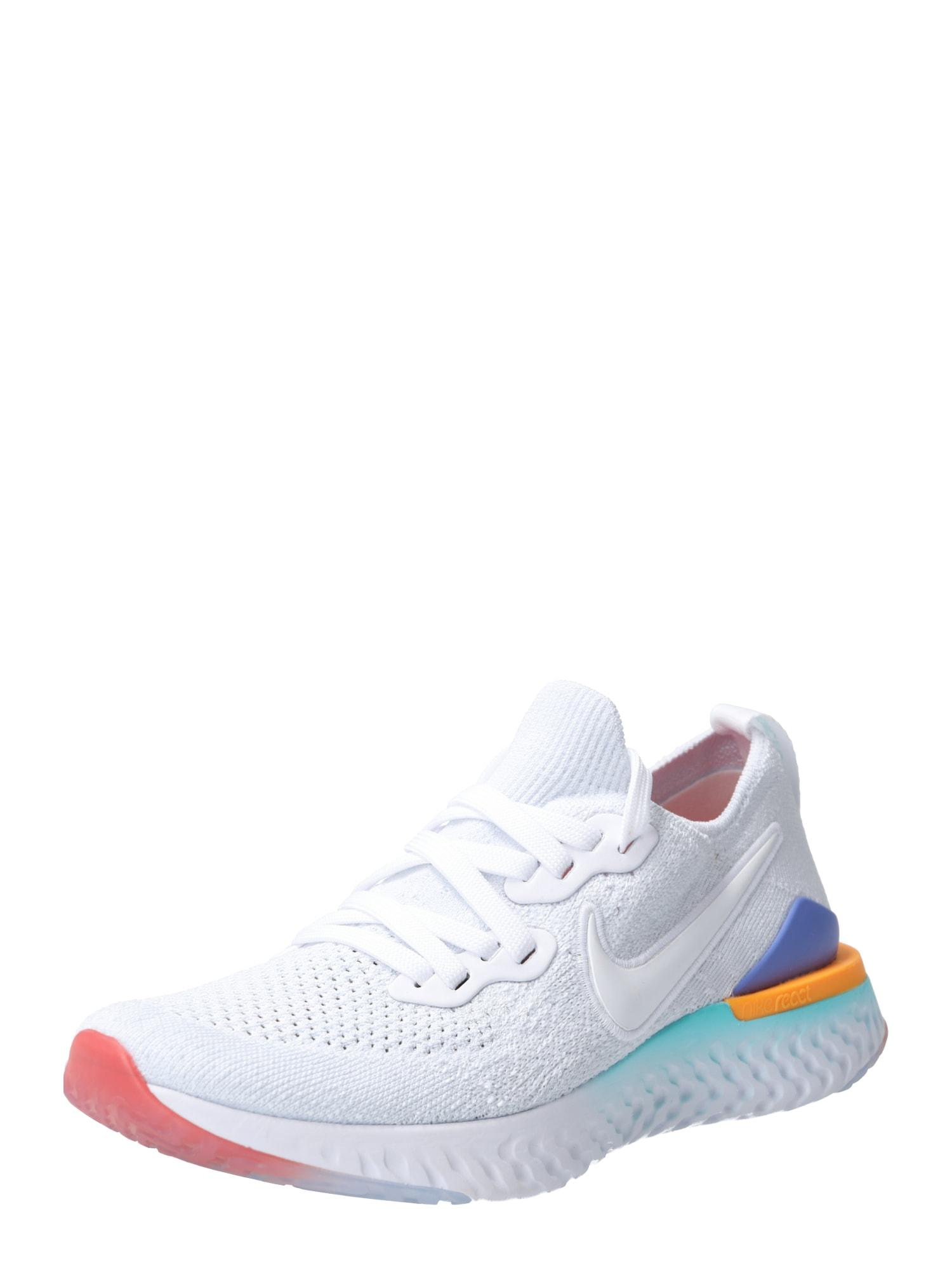 Sportovní boty Epic React Flyknit 2 modrá oranžová bílá NIKE