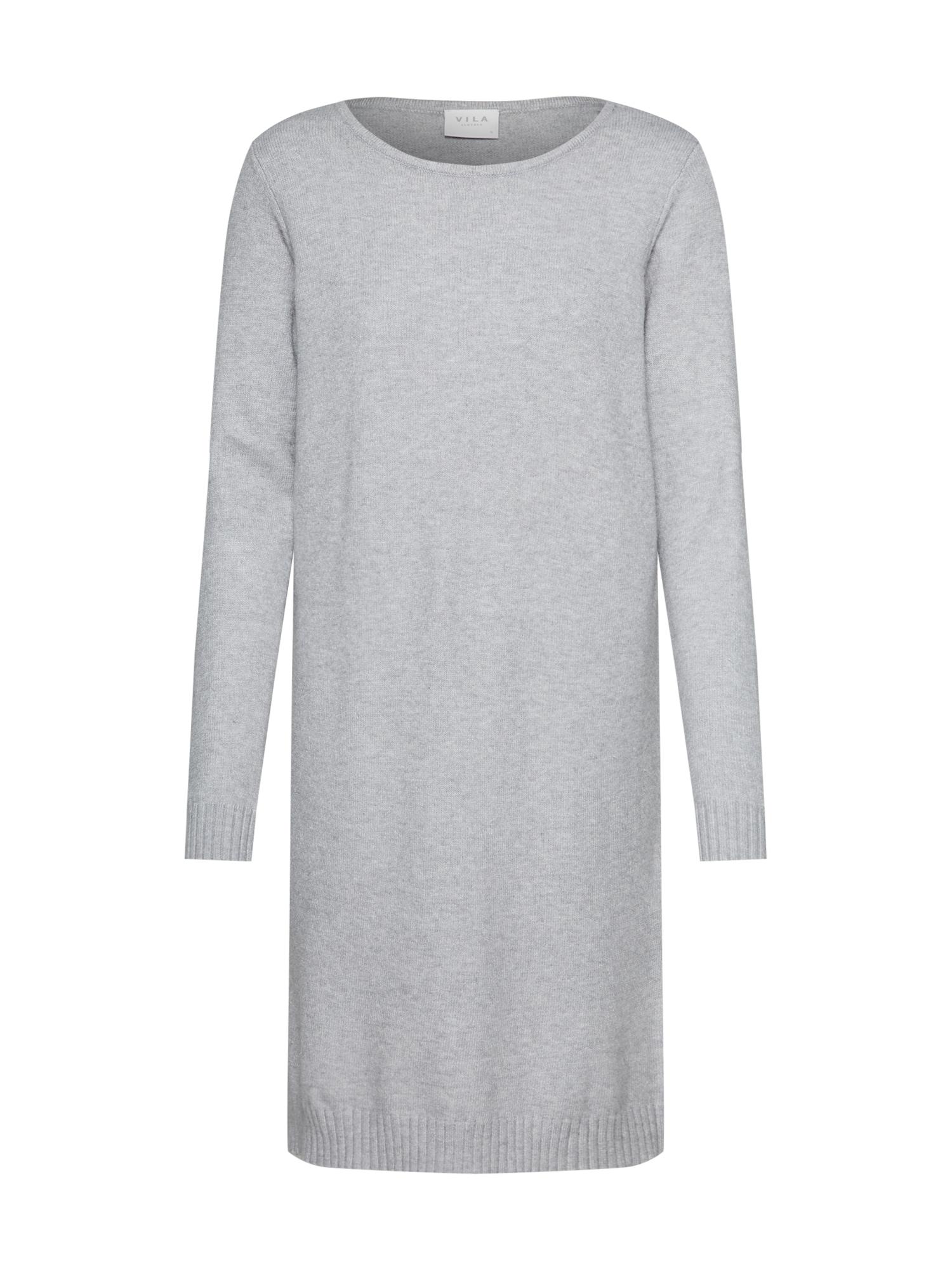 Úpletové šaty šedá VILA